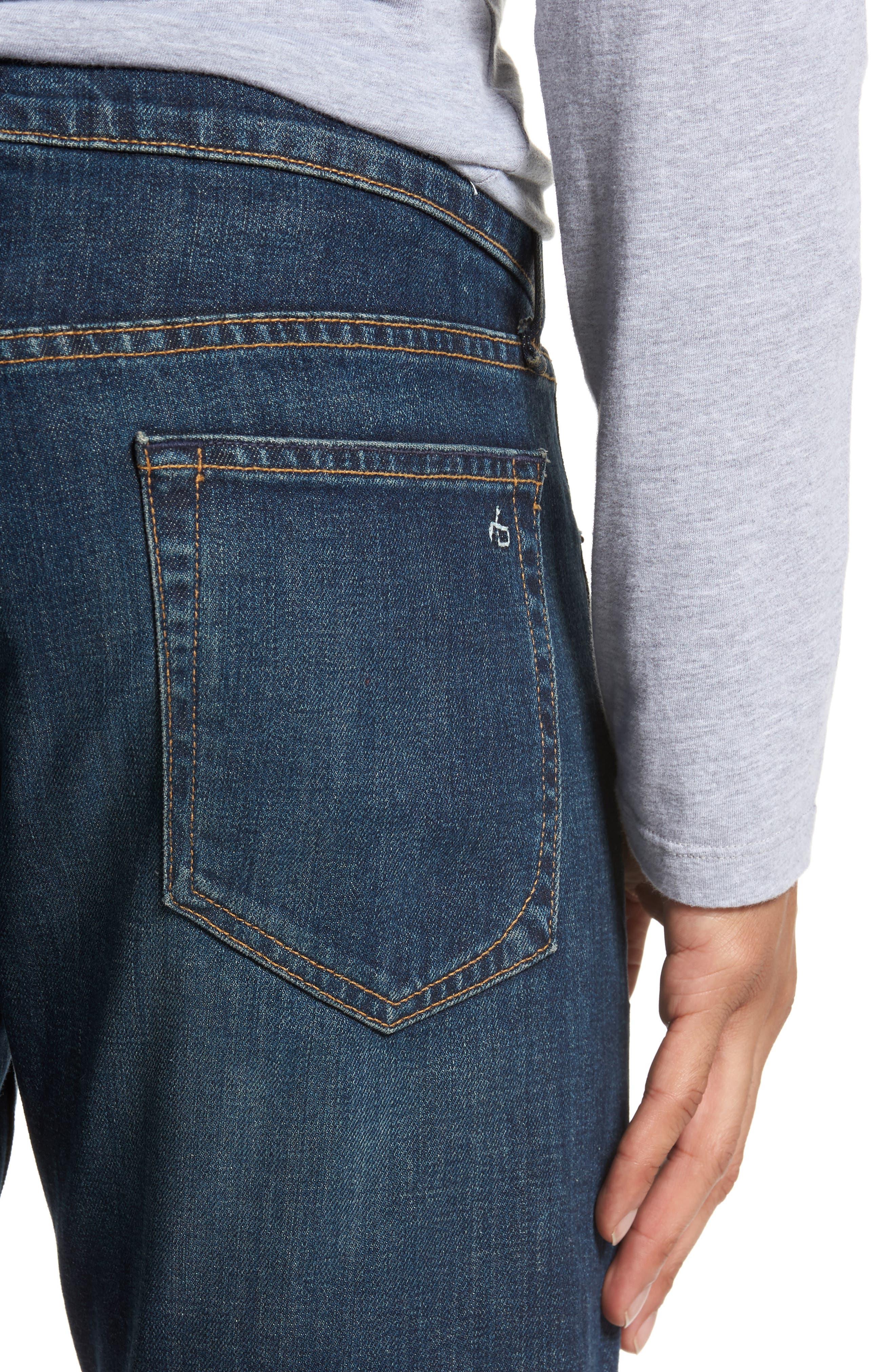 Fit 1 Skinny Fit Jeans,                             Alternate thumbnail 4, color,                             Linden