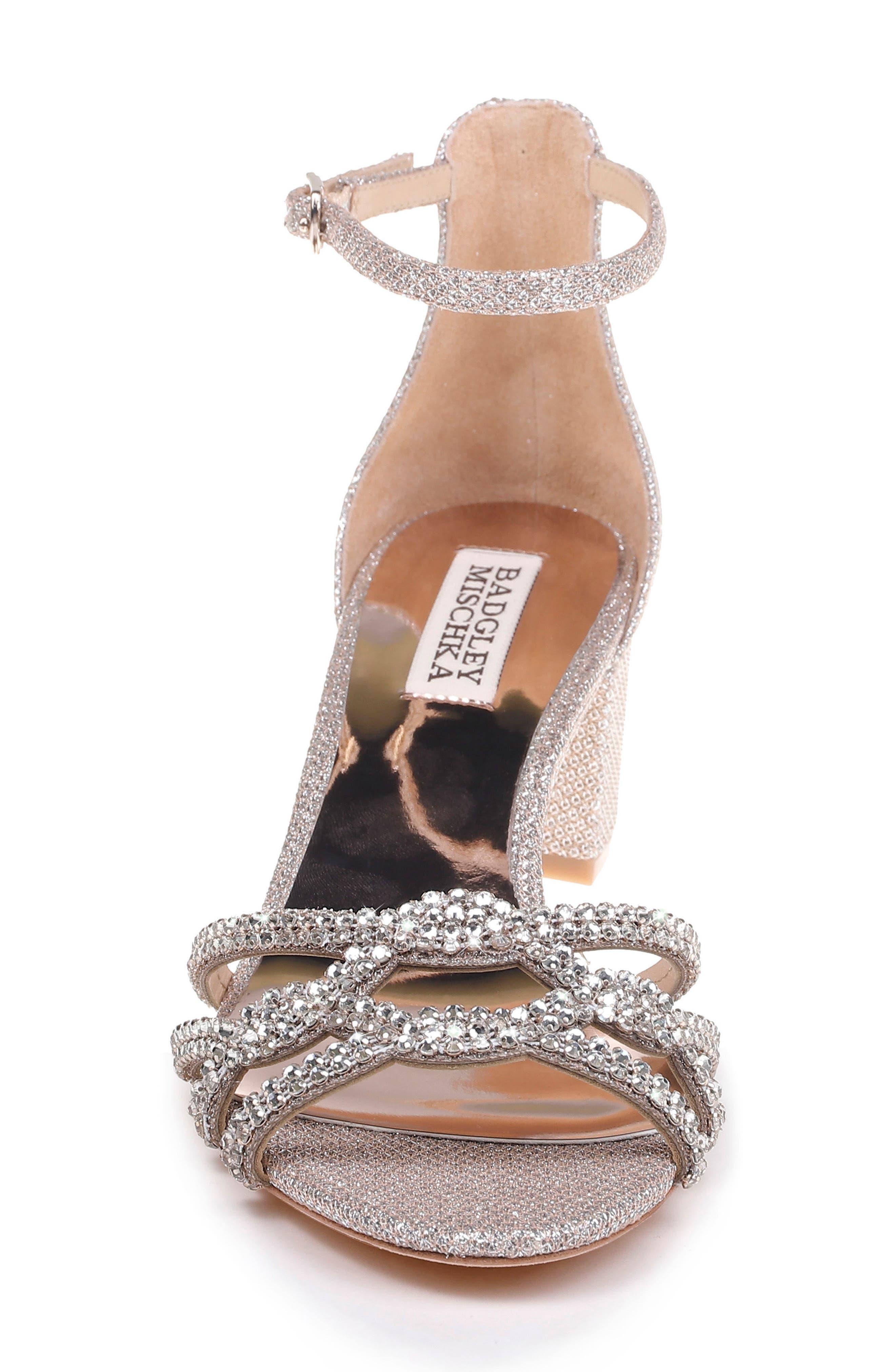 Alternate Image 4  - Badgley Mischka Sonya Block Heel Sandal (Women)