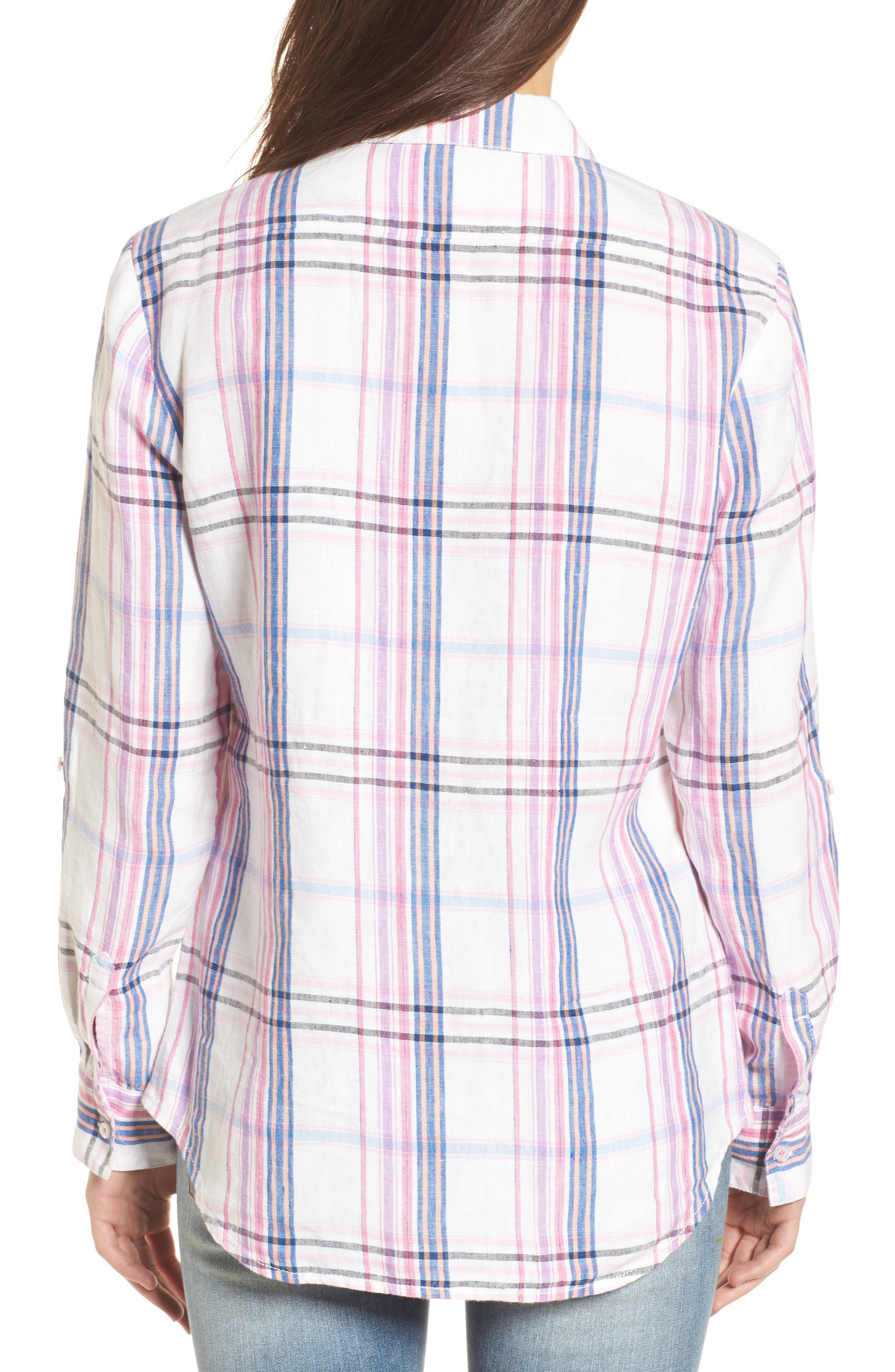 Alternate Image 2  - Tommy Bahama Palazzo Plaid Shirt