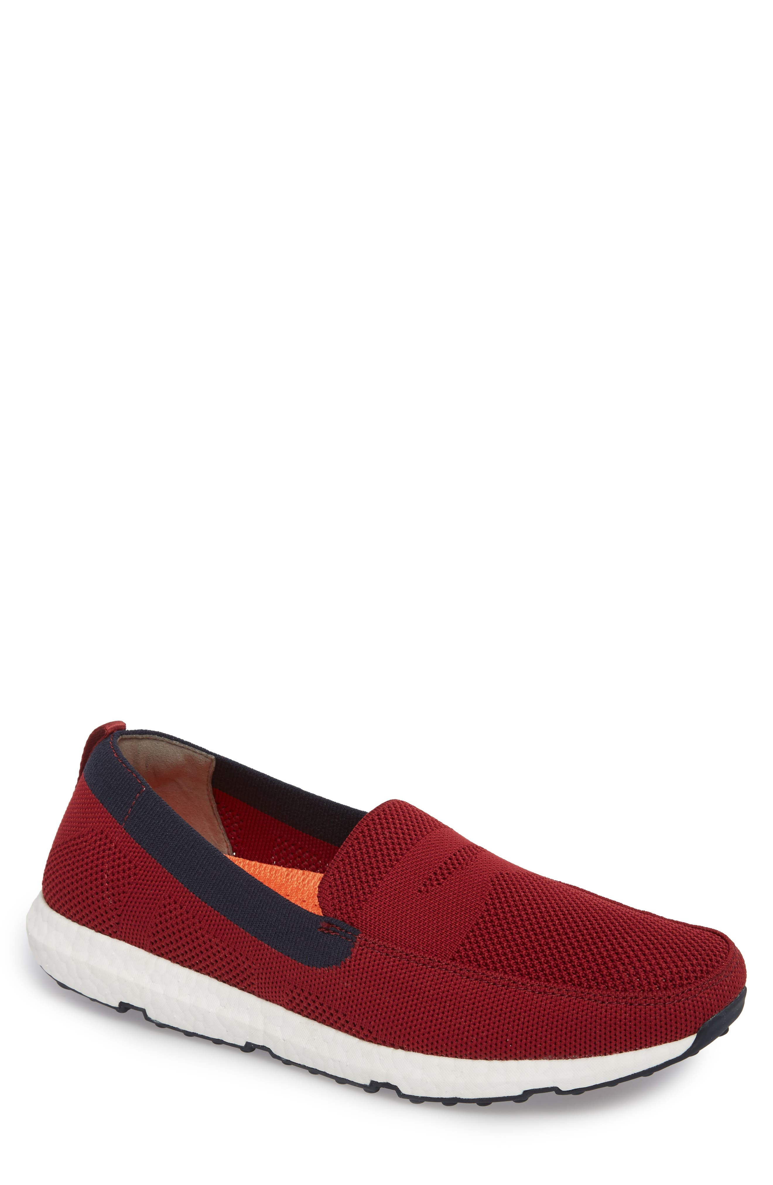 Breeze Leap Penny Loafer,                             Main thumbnail 1, color,                             Deep Red/ Navy
