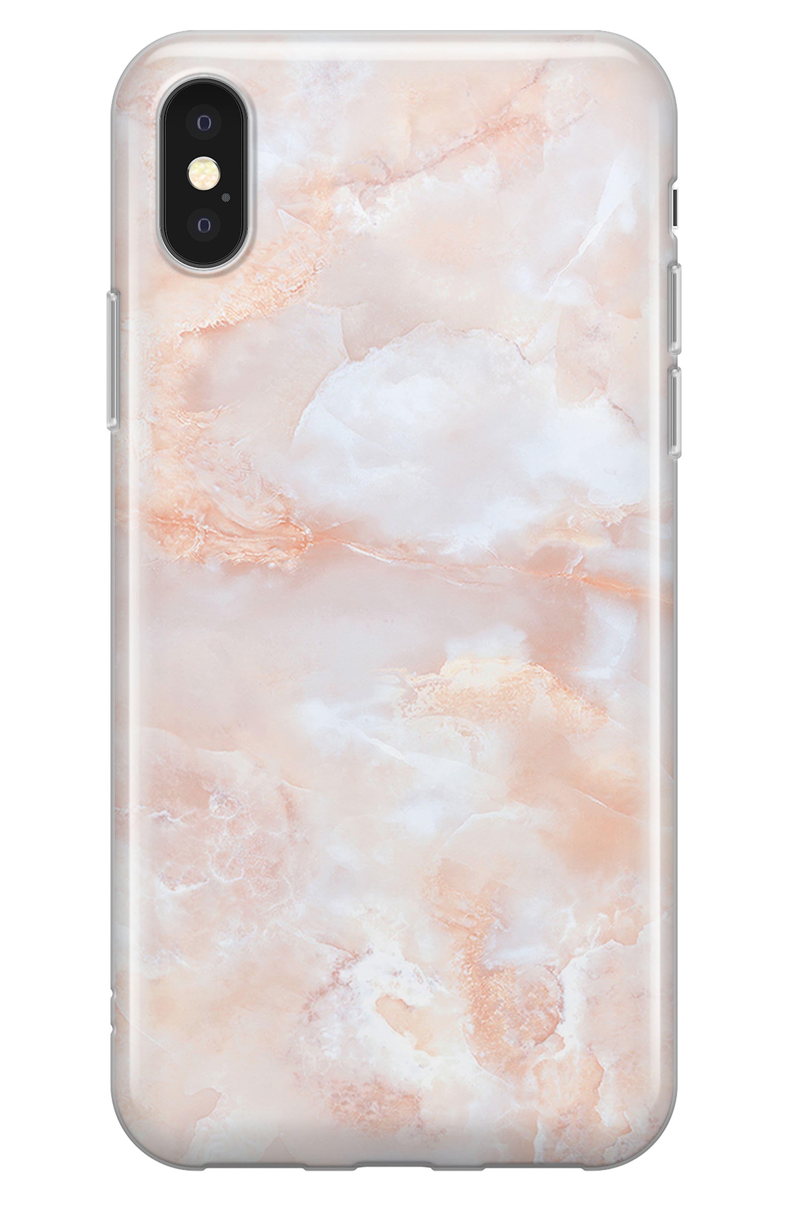 Rose iPhone X Case,                         Main,                         color, Rose