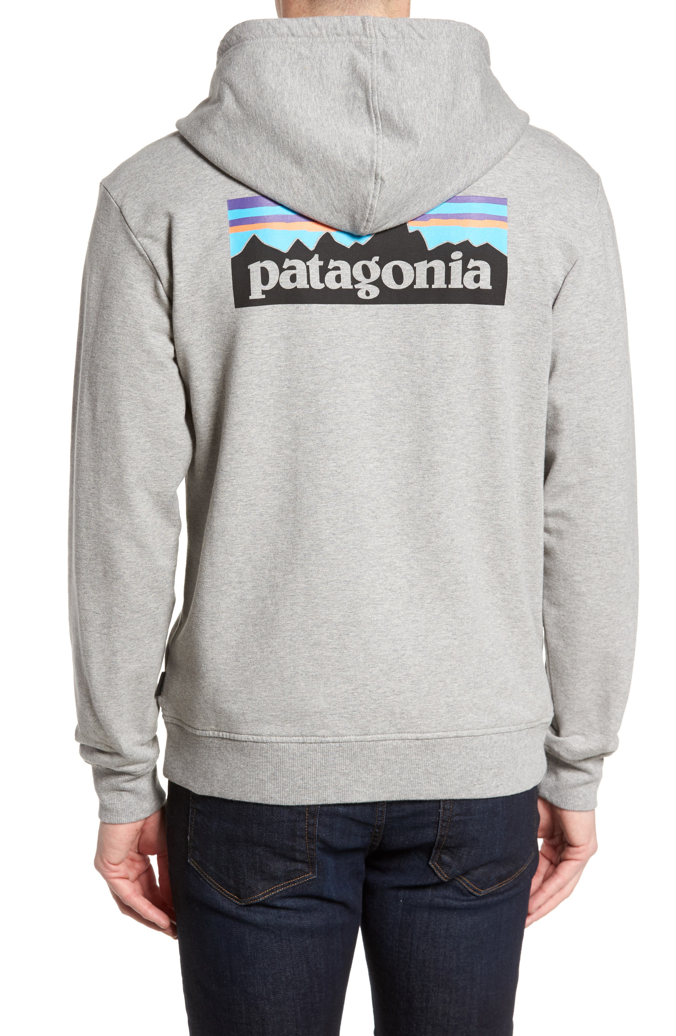 P-6 Logo Modern Fit Zip Hoodie,                             Alternate thumbnail 2, color,                             Feather Grey
