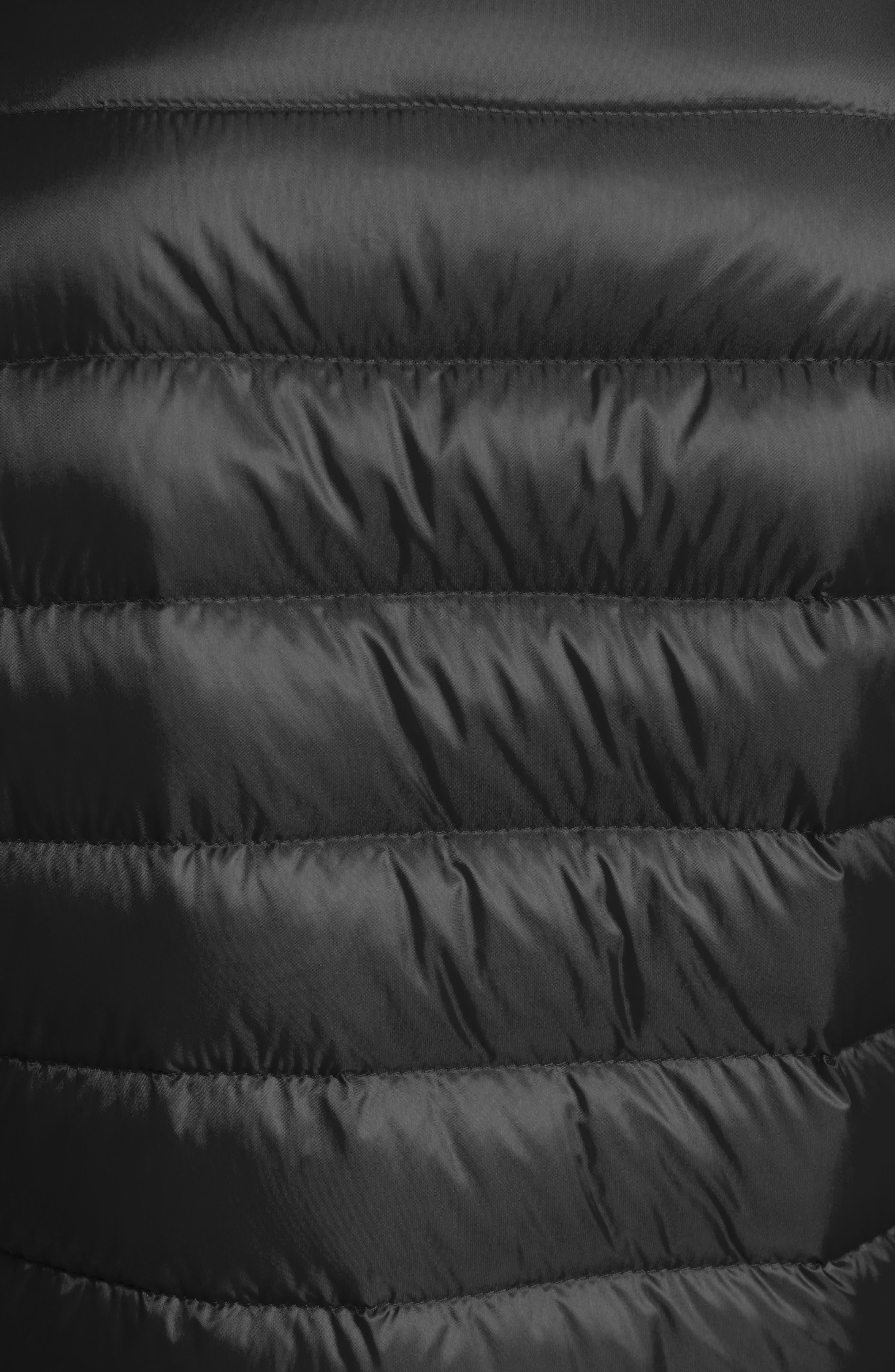 'Lans' Water Resistant Short Down Jacket,                             Alternate thumbnail 5, color,                             Black