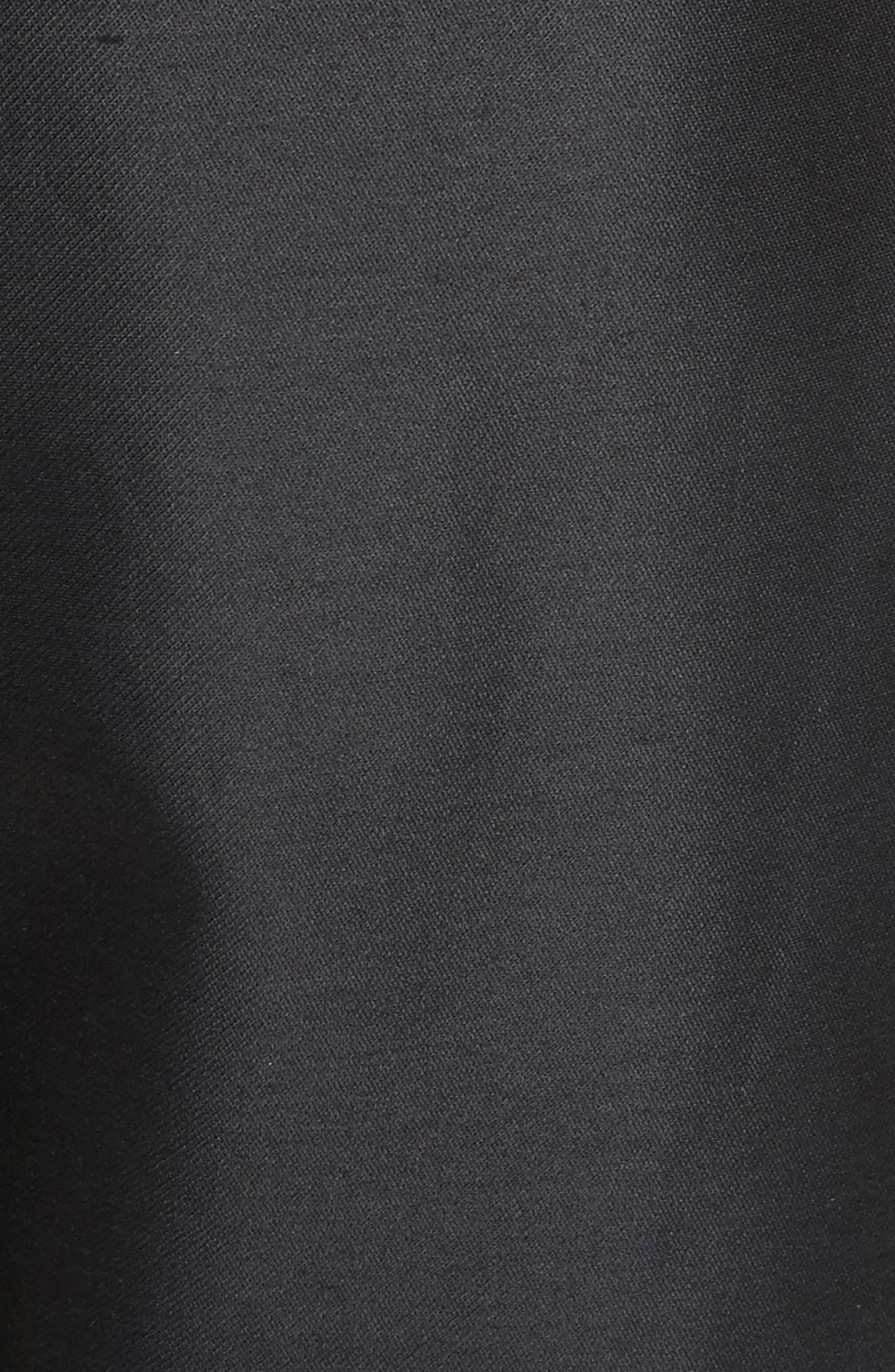 Paperbag Cotton & Silk Trousers,                             Alternate thumbnail 5, color,                             Black