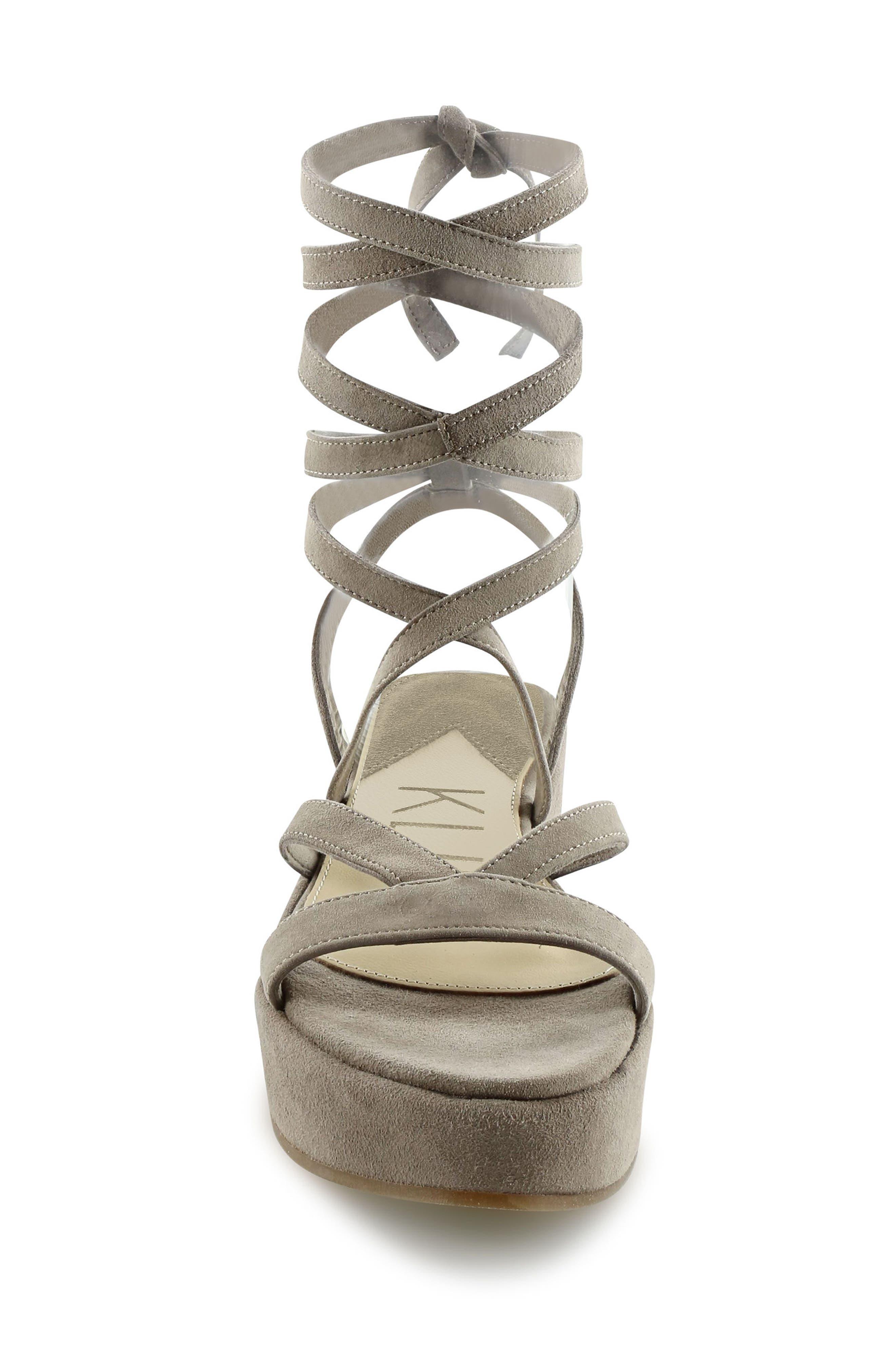 Keri Gladiator Platform Sandal,                             Alternate thumbnail 5, color,                             Camel Suede