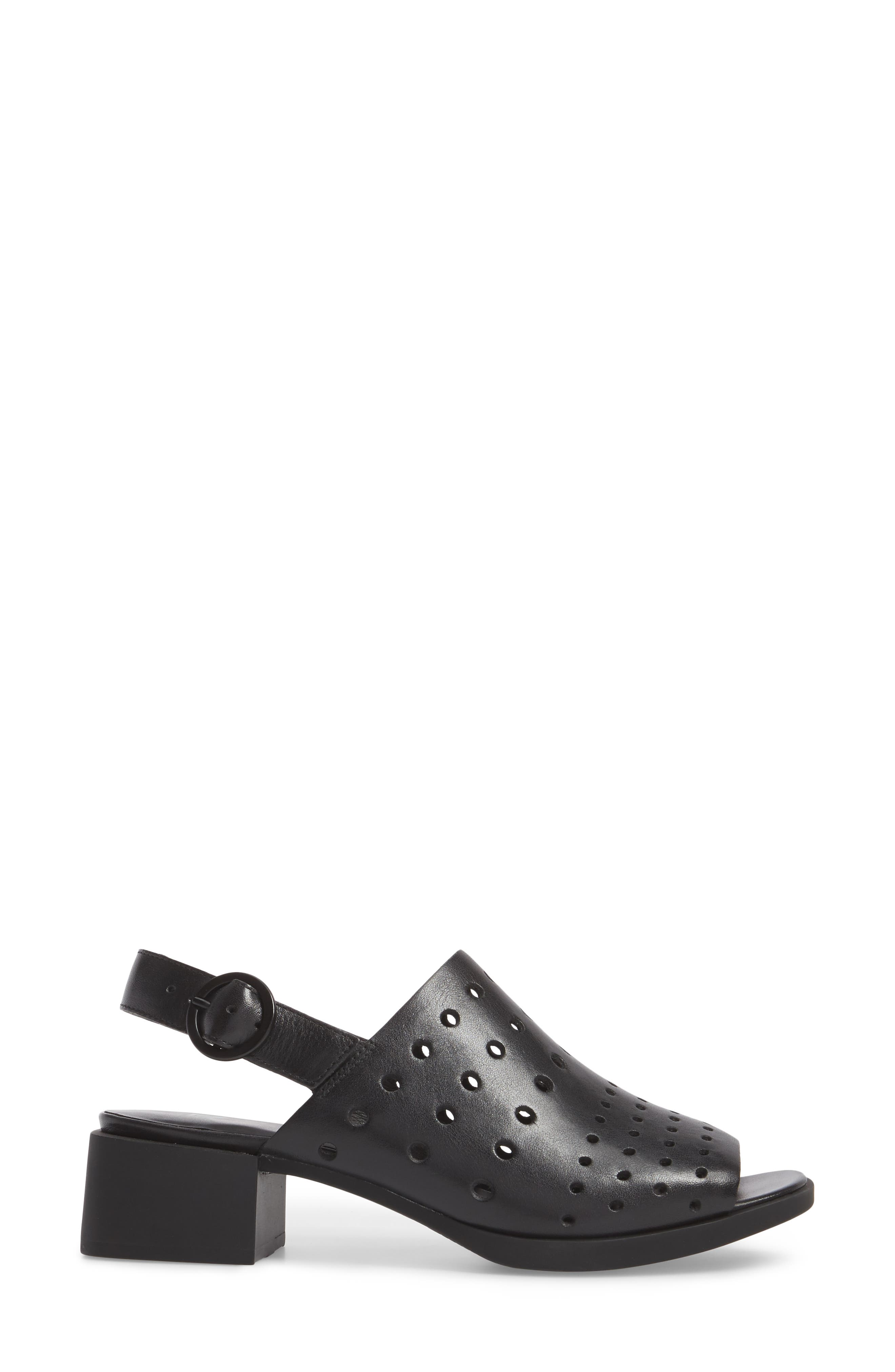 Twins Sandal,                             Alternate thumbnail 3, color,                             Black Leather
