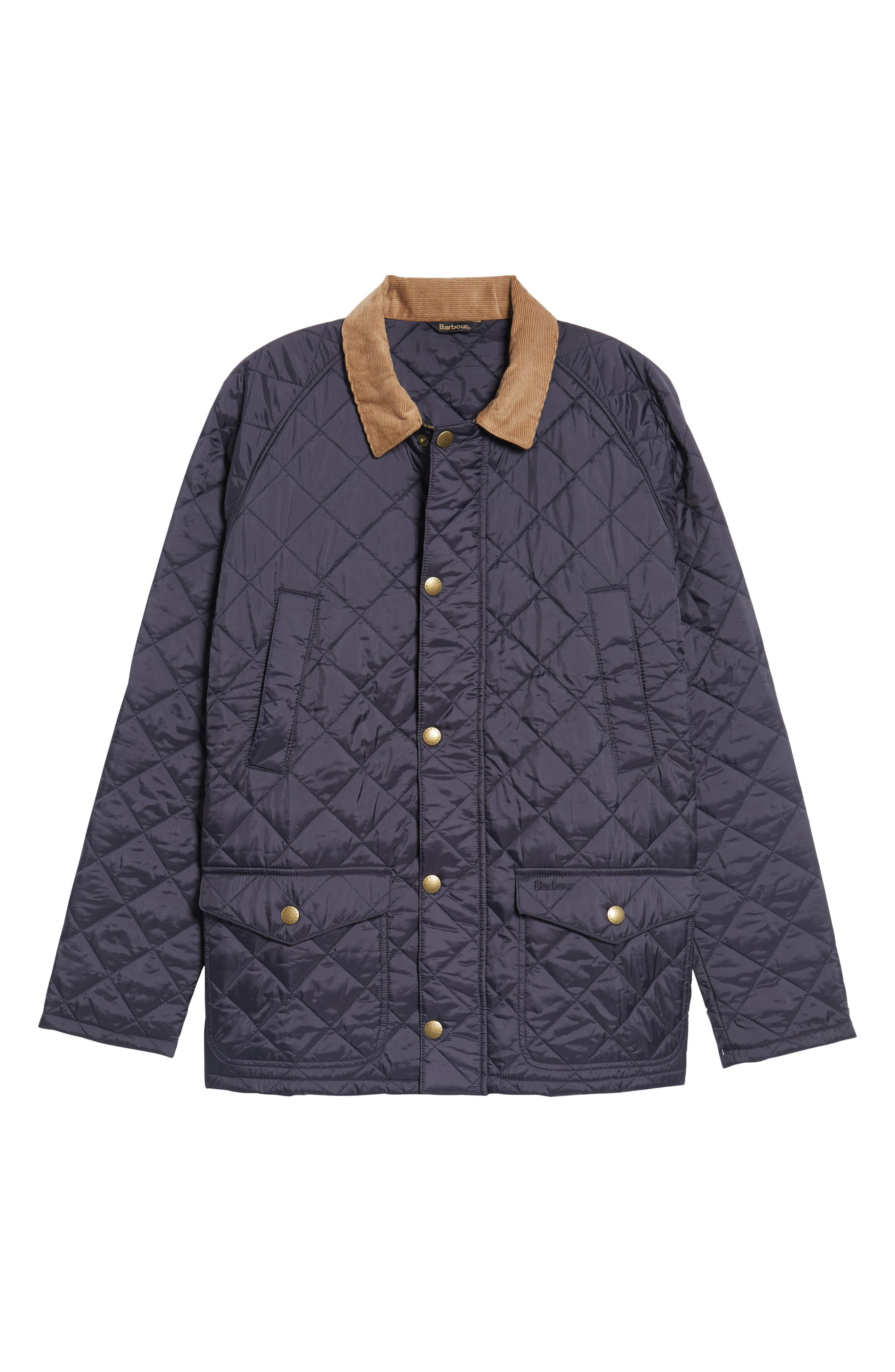 'Canterdale' Slim Fit Water-Resistant Diamond Quilted Jacket,                             Alternate thumbnail 6, color,                             Navy