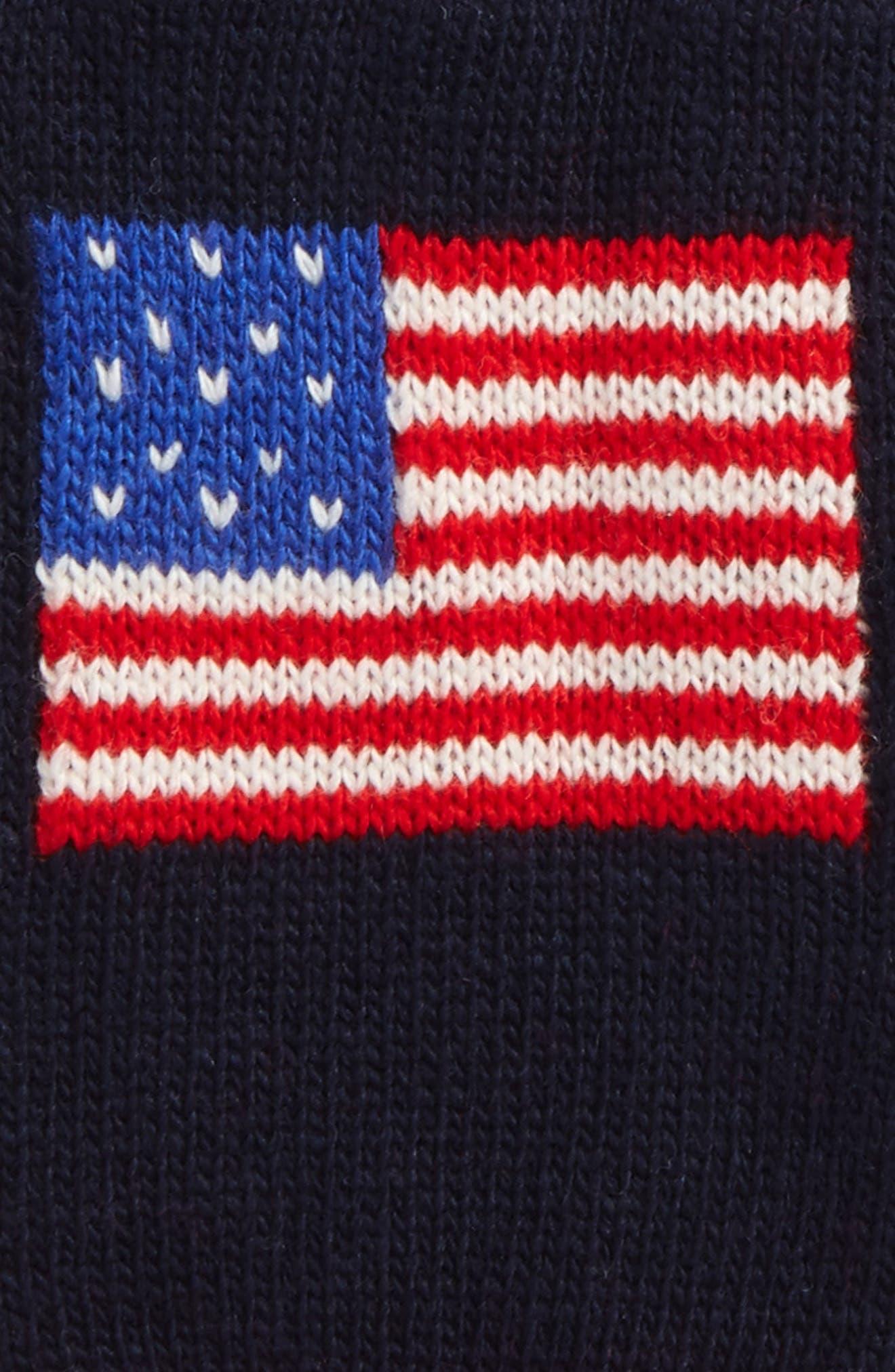 Alternate Image 2  - Polo Ralph Lauren Flag Gloves