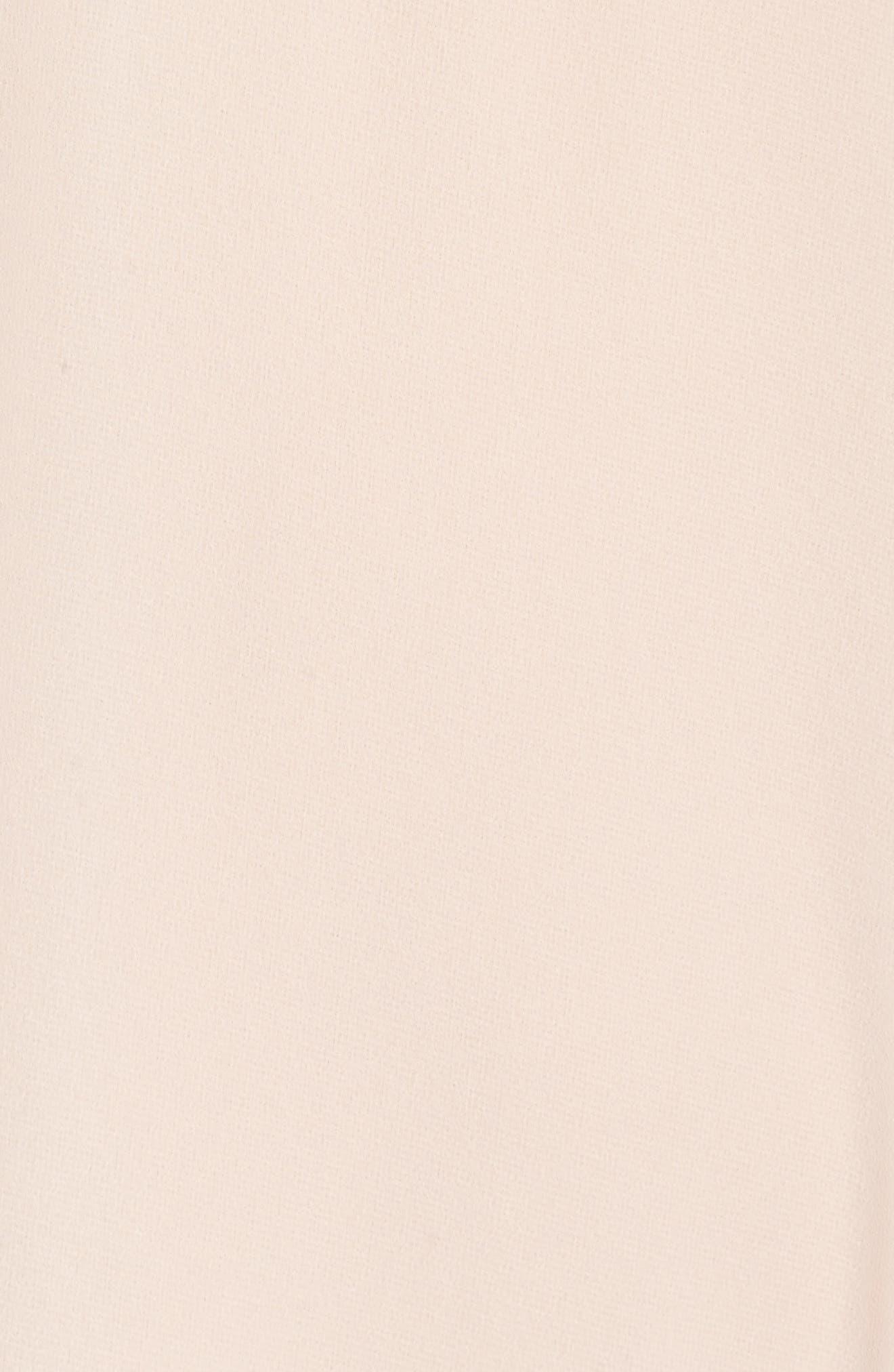 Alternate Image 5  - nouvelle AMSALE Ruffle Sleeve Halter Gown