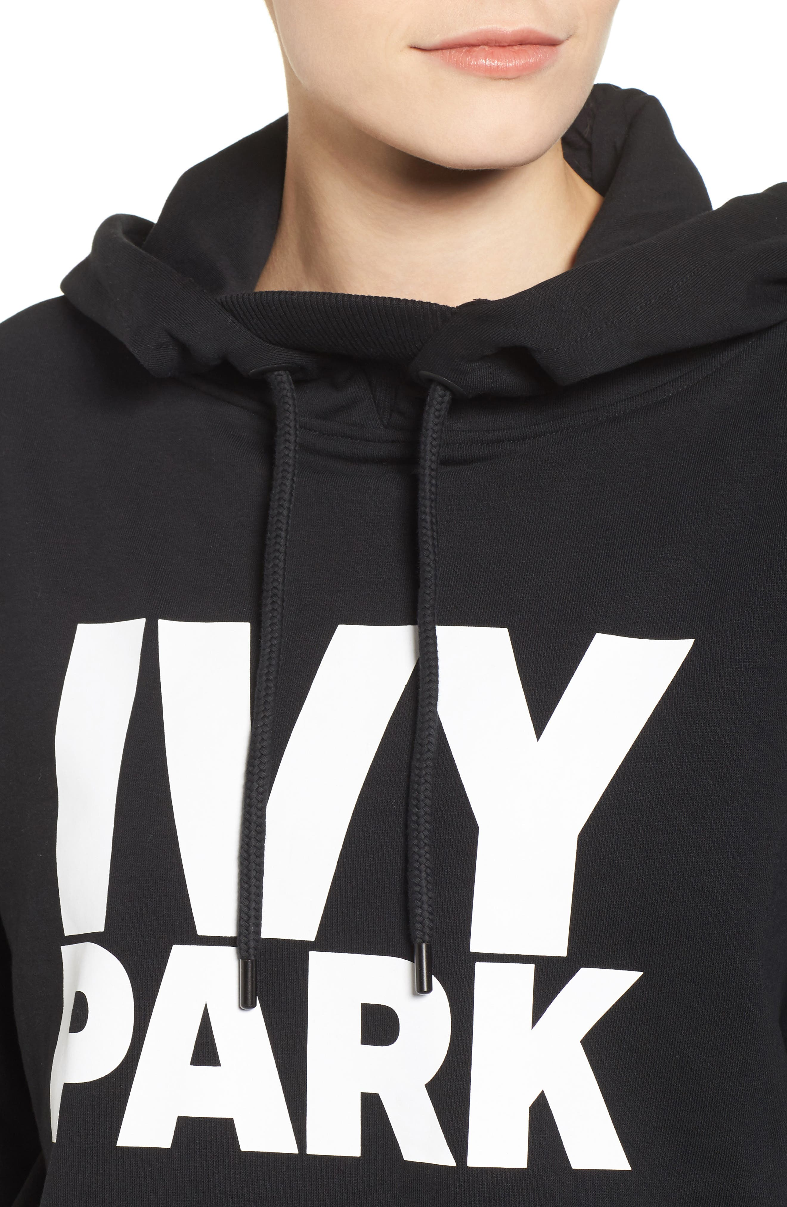 Logo Hoodie,                             Alternate thumbnail 4, color,                             Black