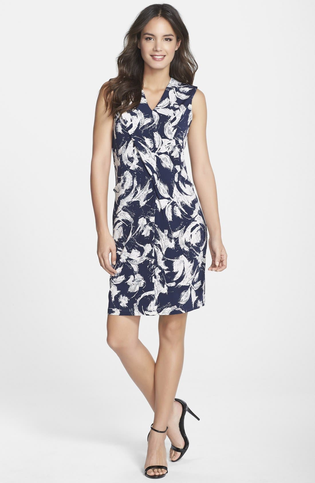 Alternate Image 3  - Marc New York by Andrew Marc Pleat Detail Floral Print Shift Dress