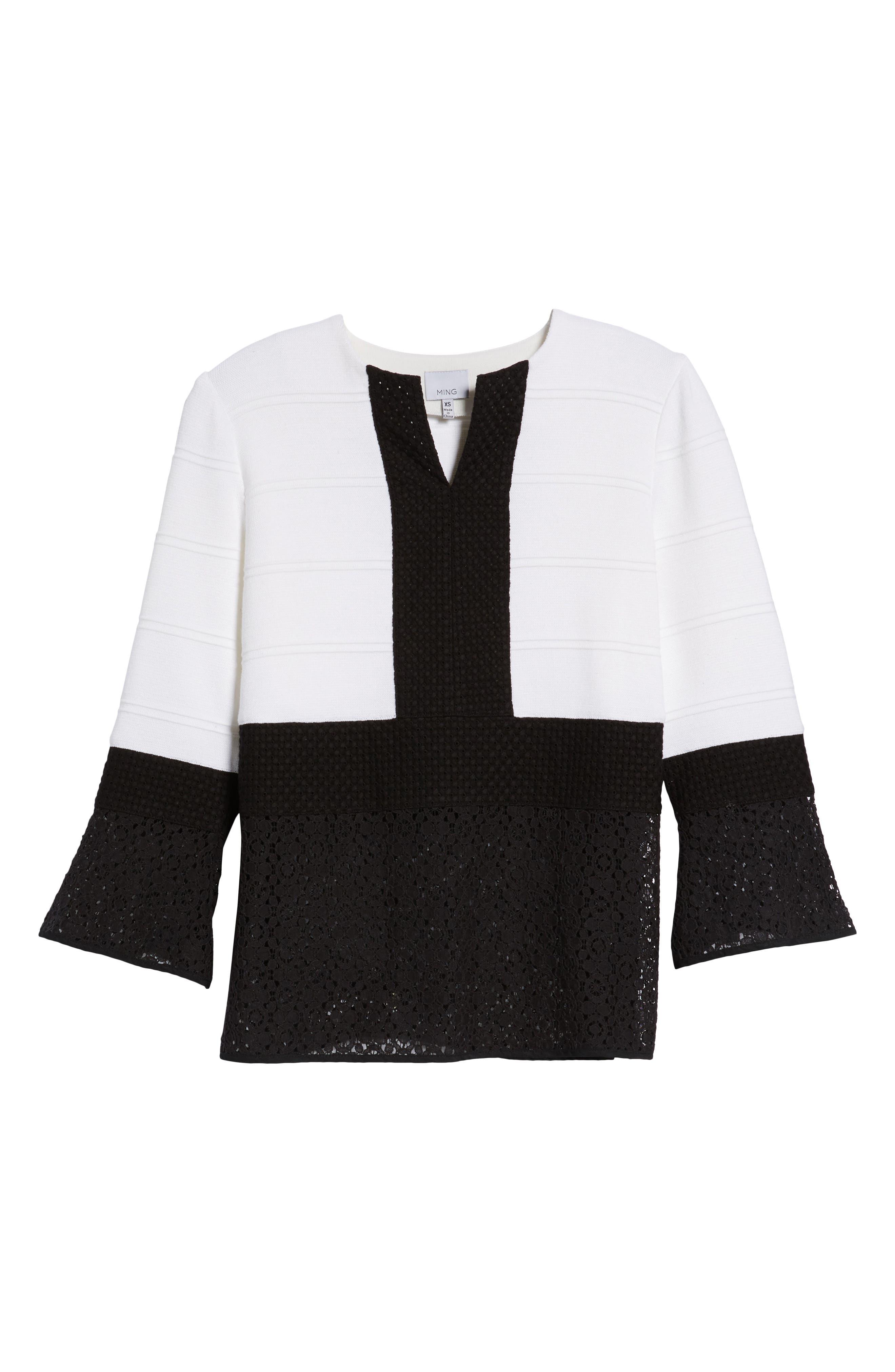 Alternate Image 6  - Ming Wang Knit & Lace Tunic