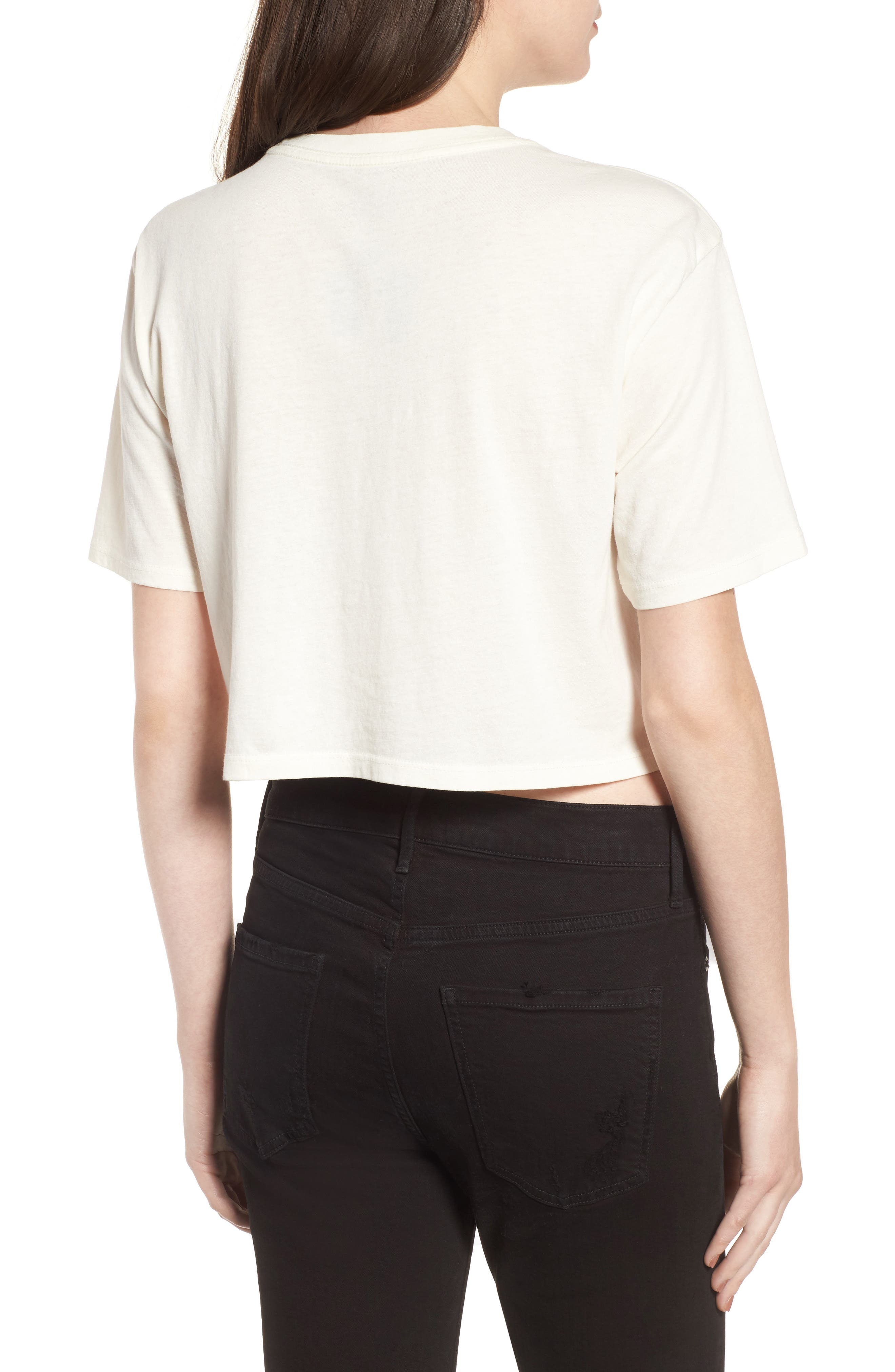 Crop Graphic Tee,                             Alternate thumbnail 2, color,                             Washed Ivory