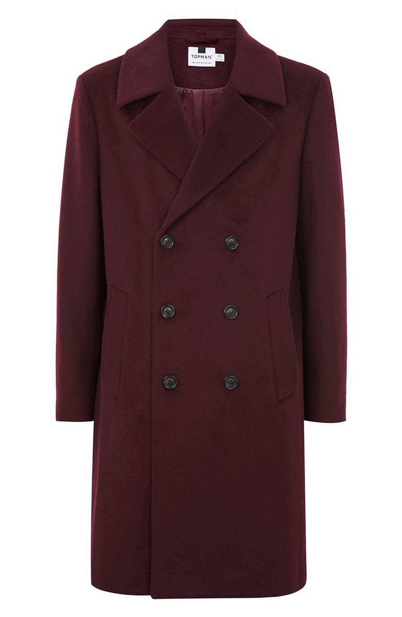 Alternate Image 4  - Topman Oversize Double Breated Coat
