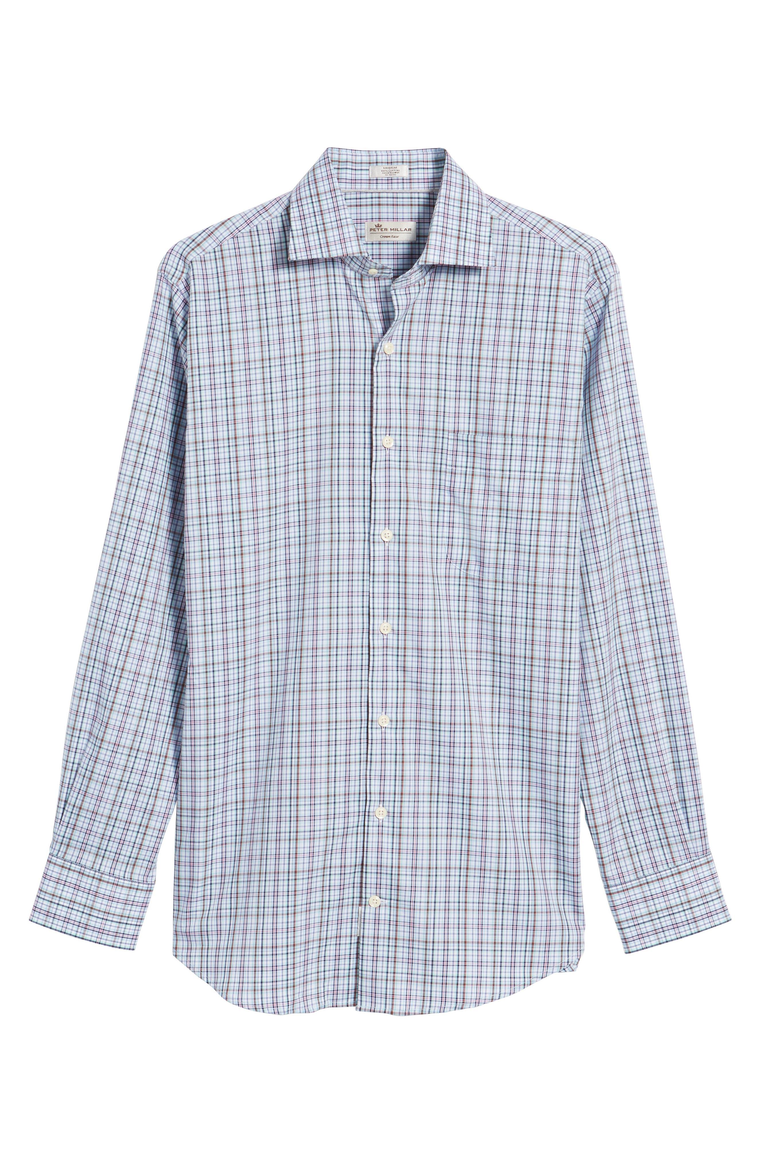 Crown Ease Tango Pinwheel Regular Fit Sport Shirt,                             Alternate thumbnail 6, color,                             Tar Heel Blue