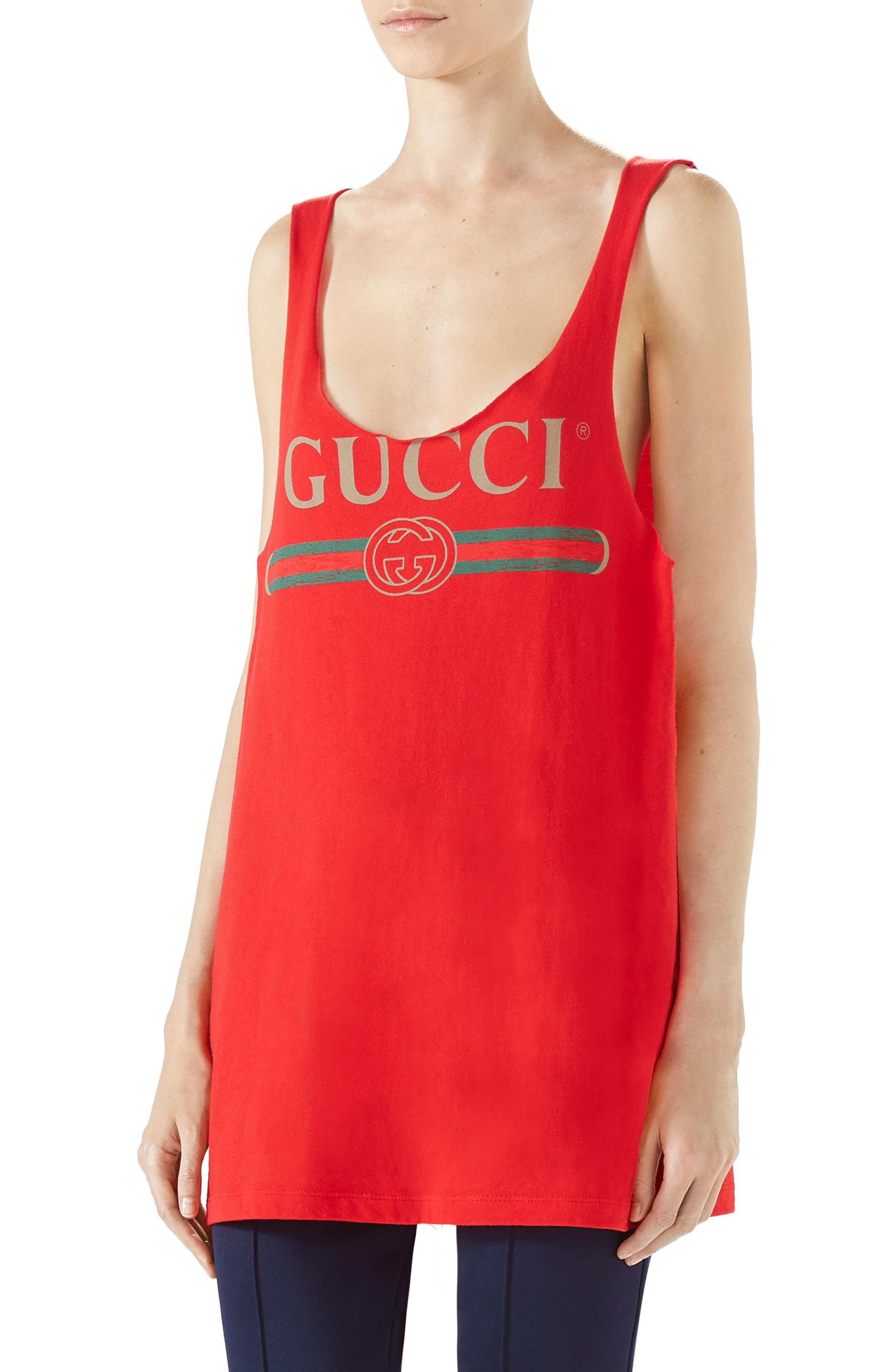 Logo Jersey Tank,                         Main,                         color, Live Red