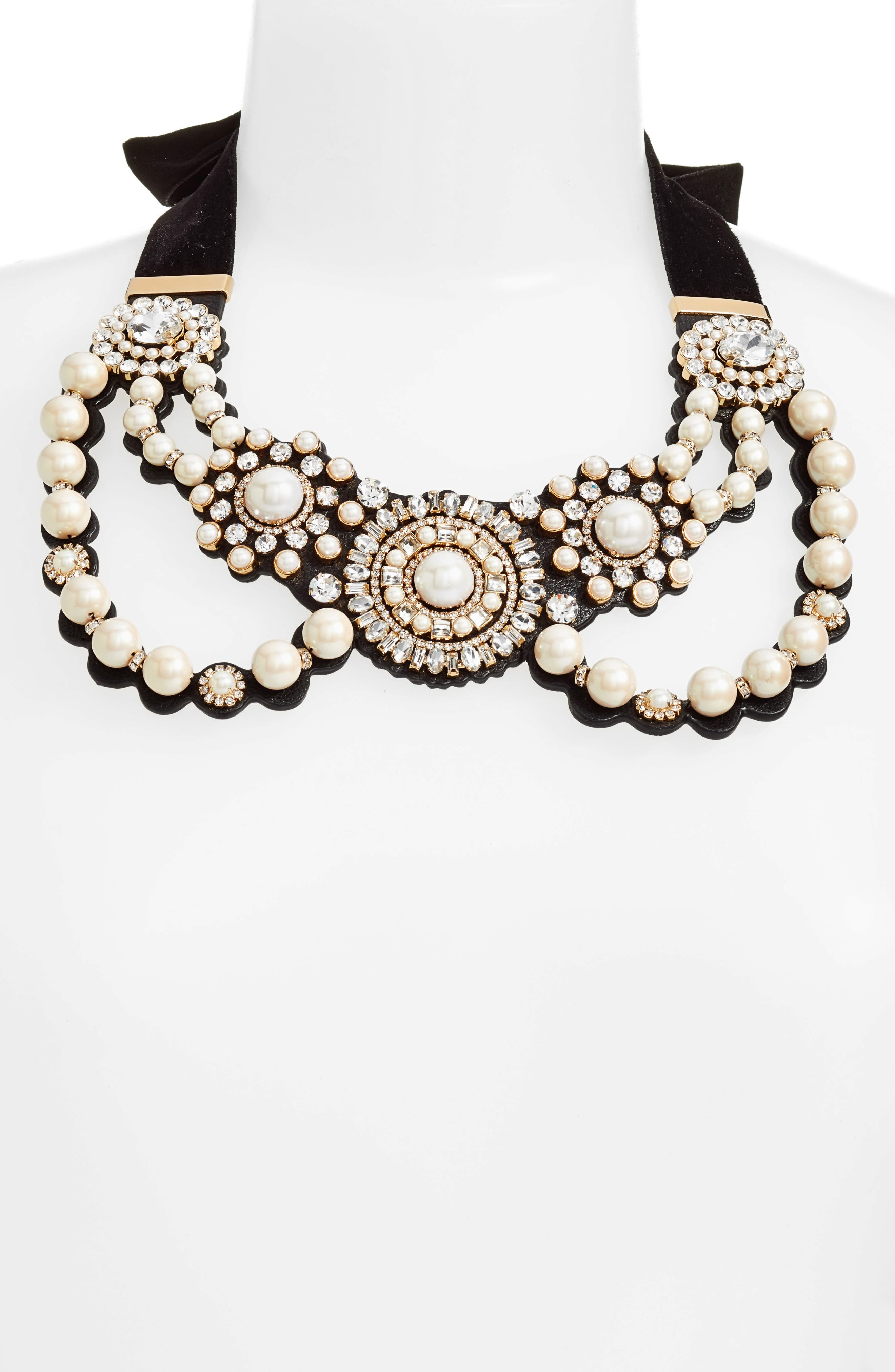 kate spade new york luminous imitation pearl bib necklace