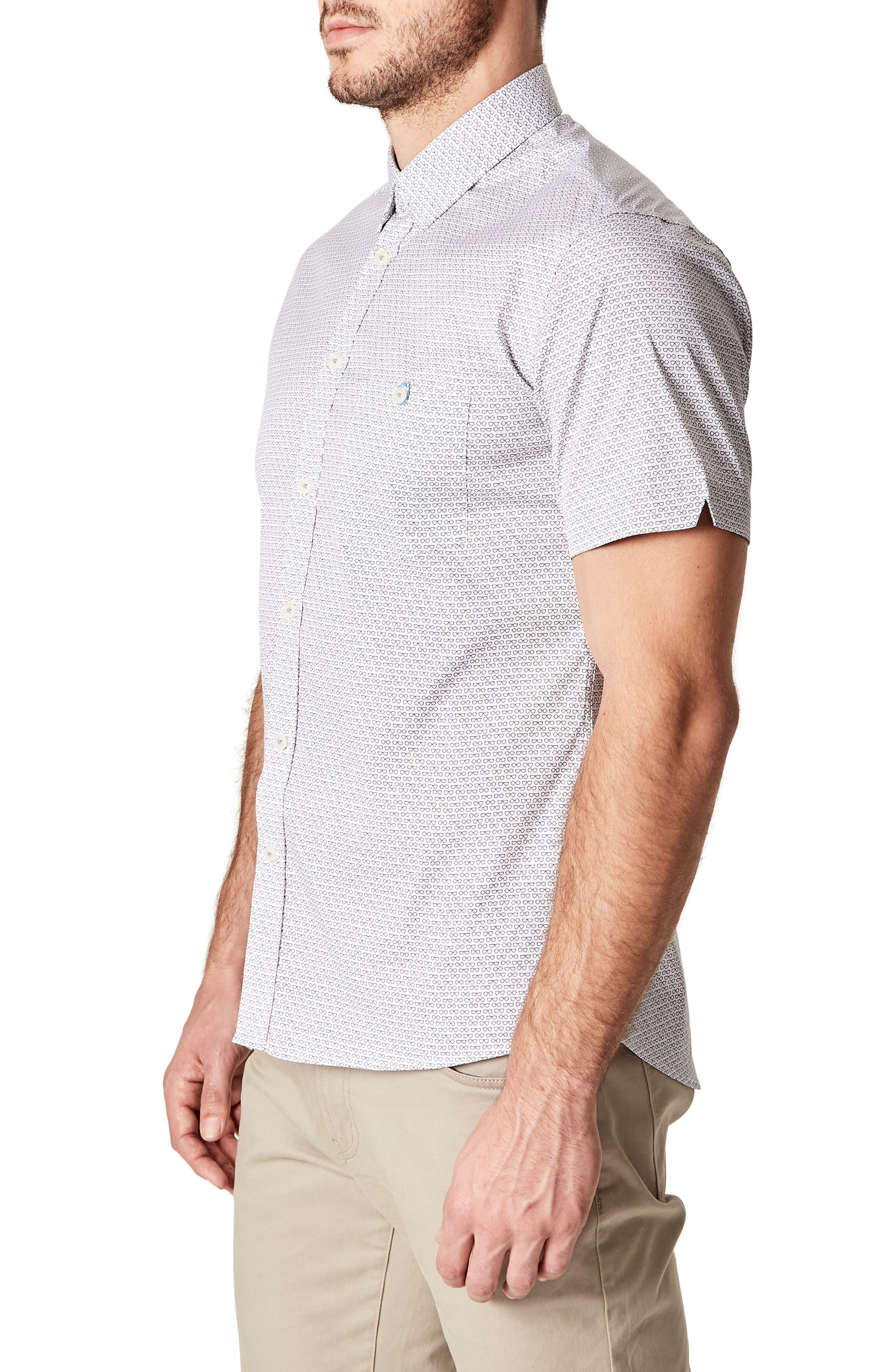 Bright Life Woven Shirt,                             Alternate thumbnail 3, color,                             White