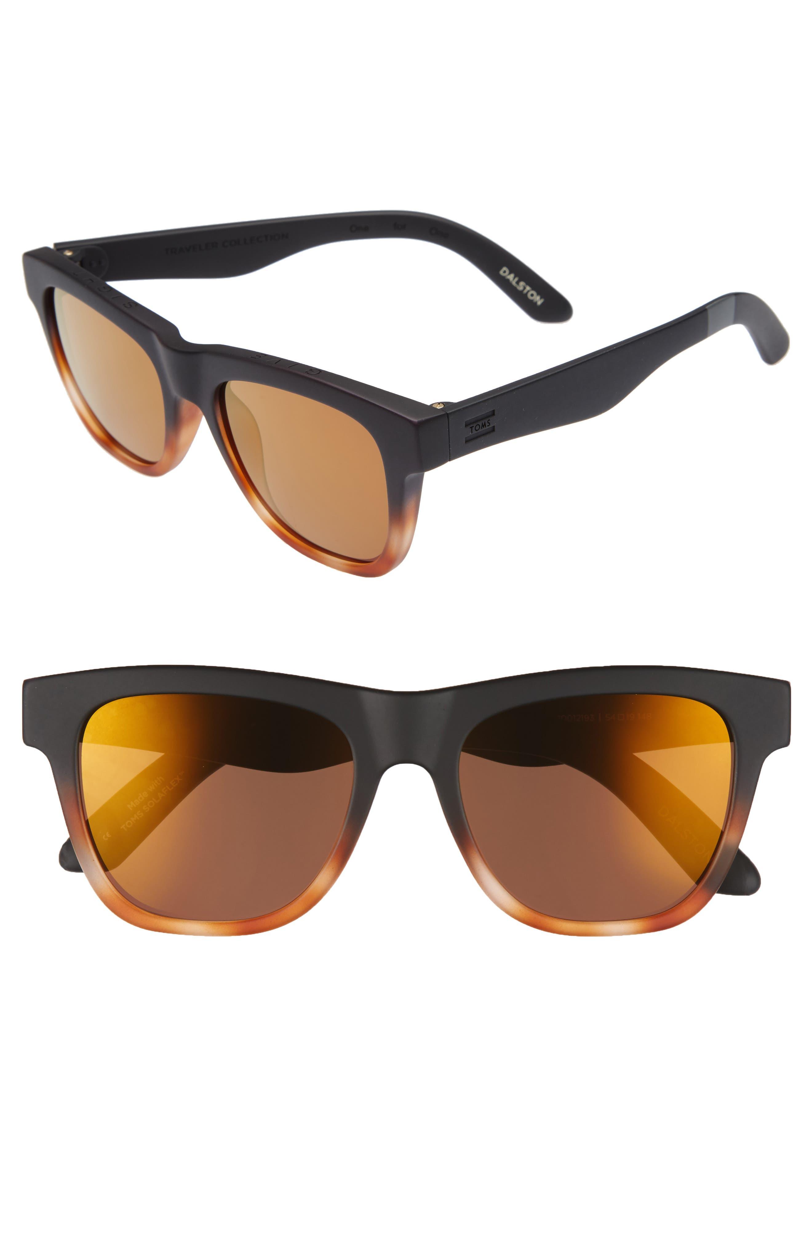 Dalston 54mm Sunglasses,                         Main,                         color, Black Tortoise Fade