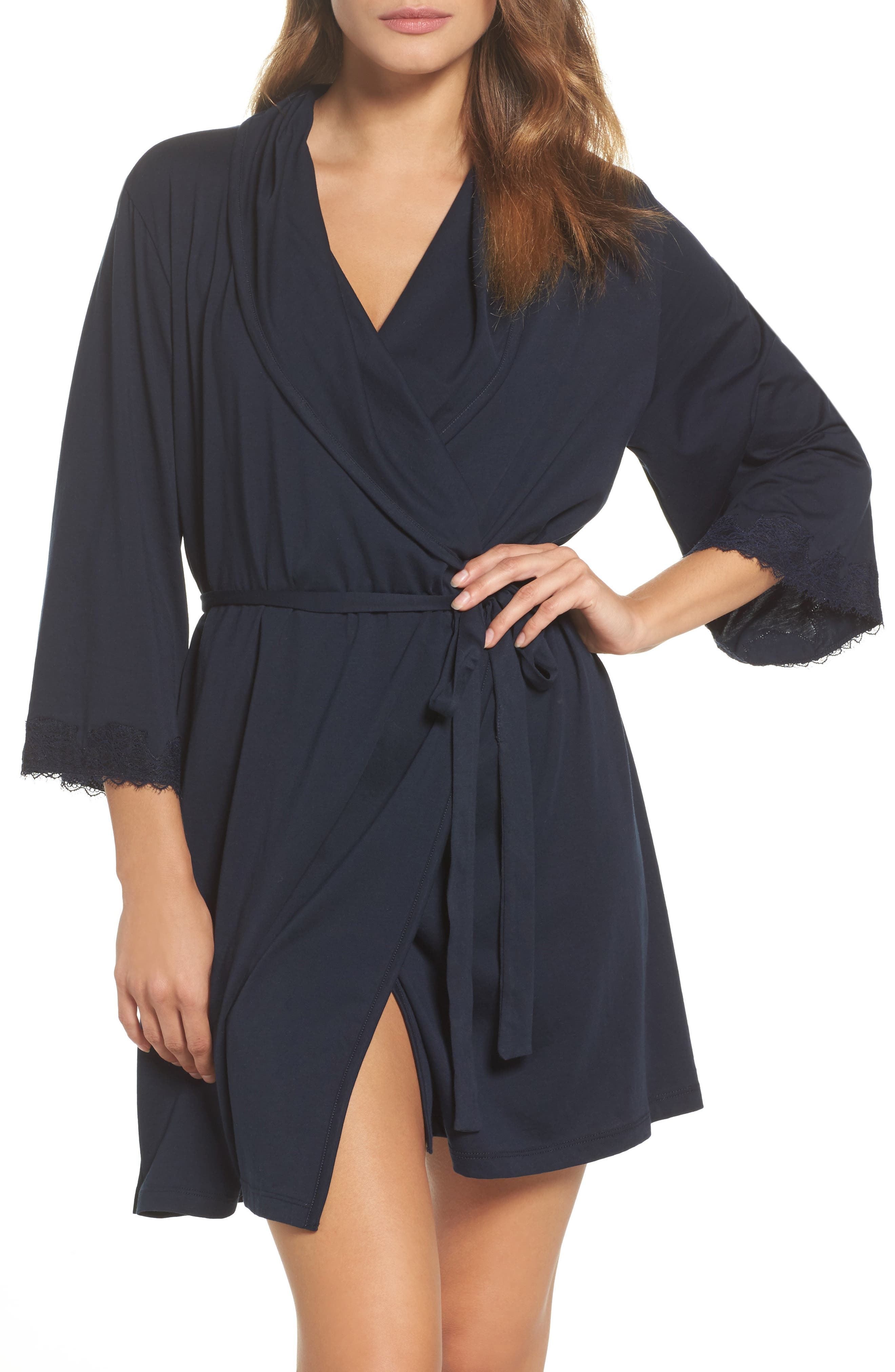 skin Organic Cotton Short Robe