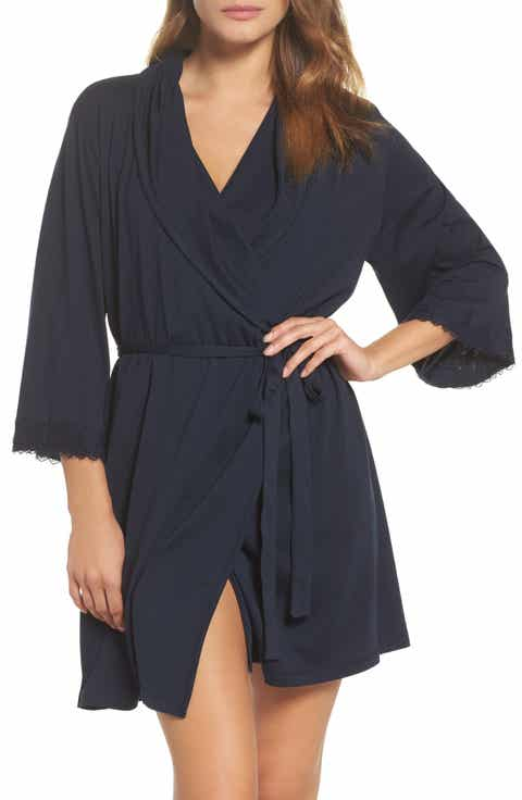 skin Organic Cotton Short Robe