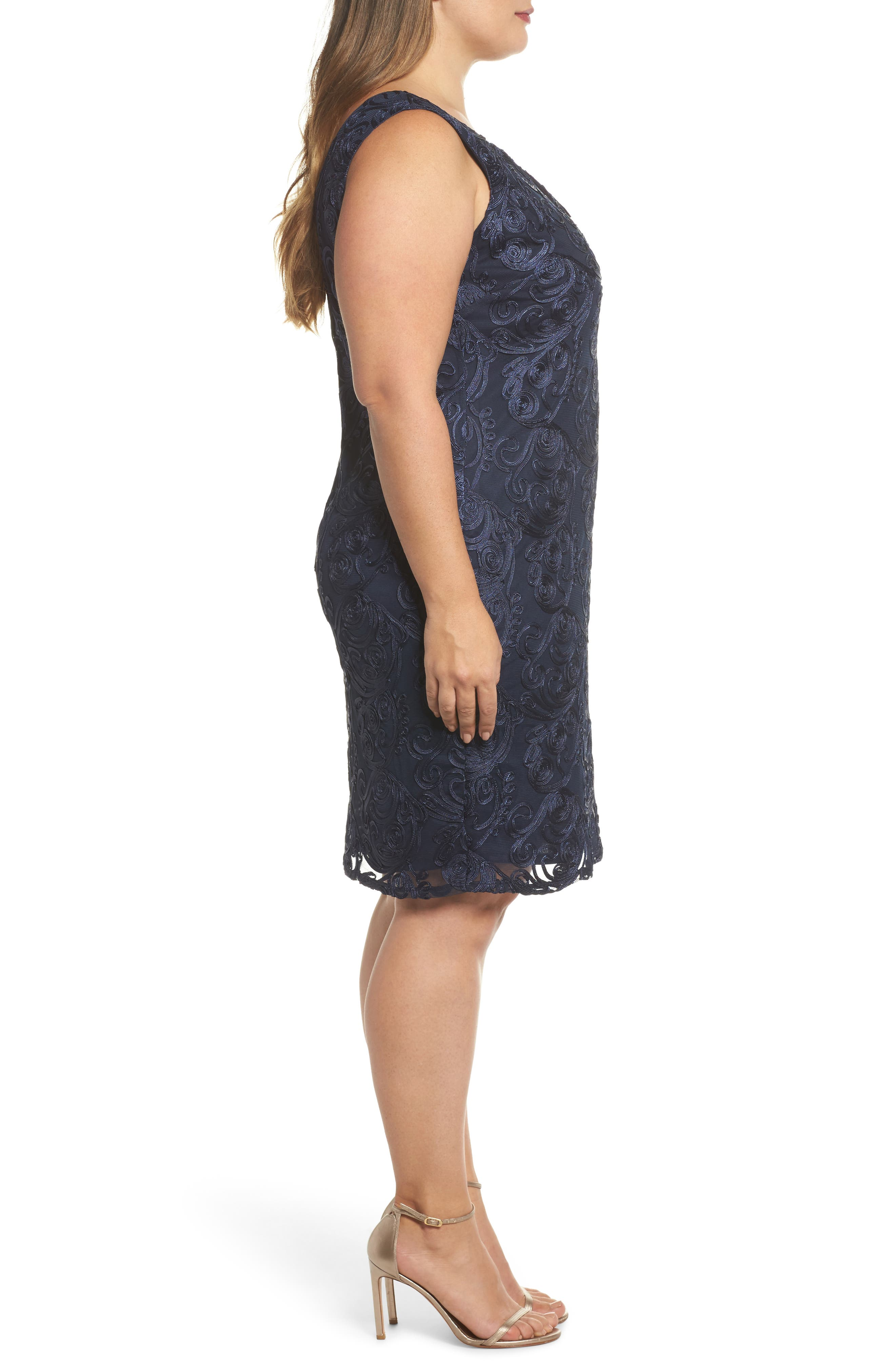 Alternate Image 3  - Marina Soutache Sheath Dress (Plus Size)