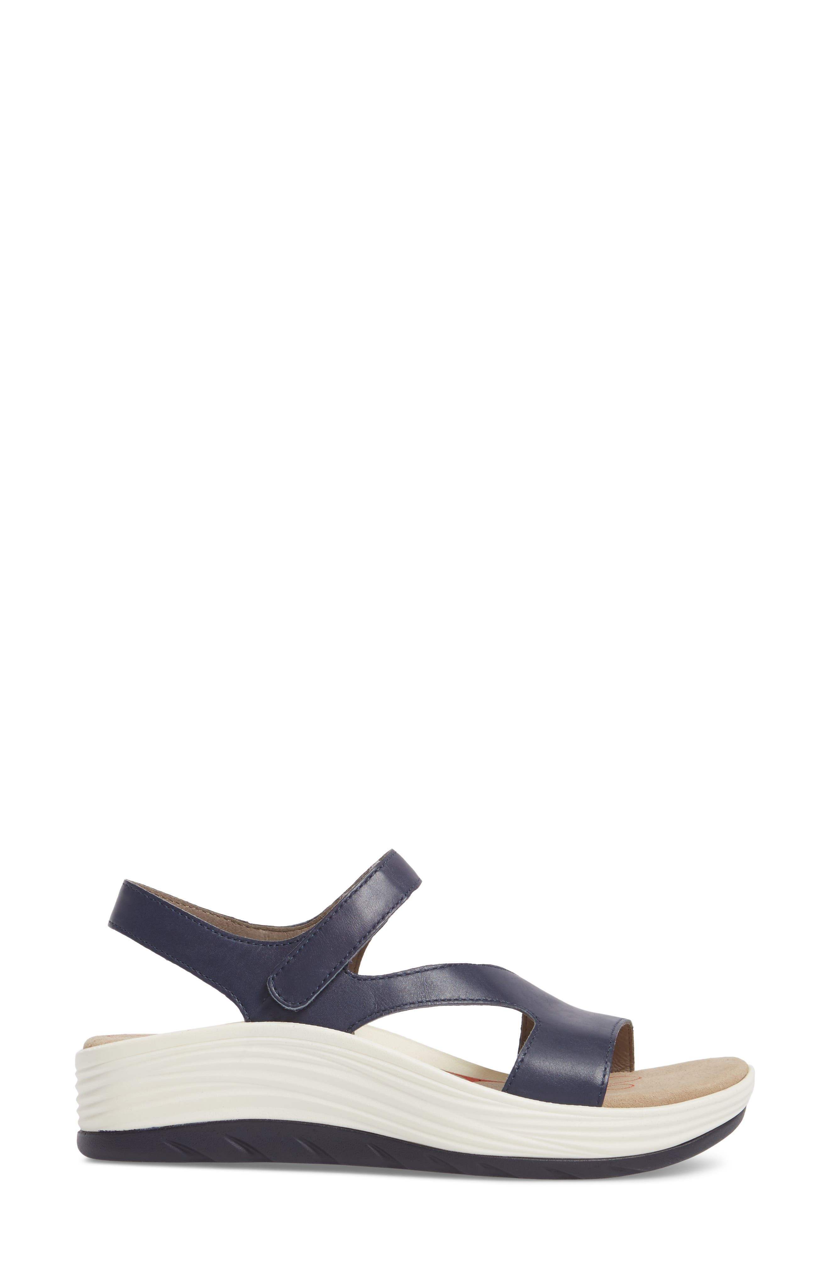 Cybele Platform Sandal,                             Alternate thumbnail 3, color,                             Peacoat Navy Leather