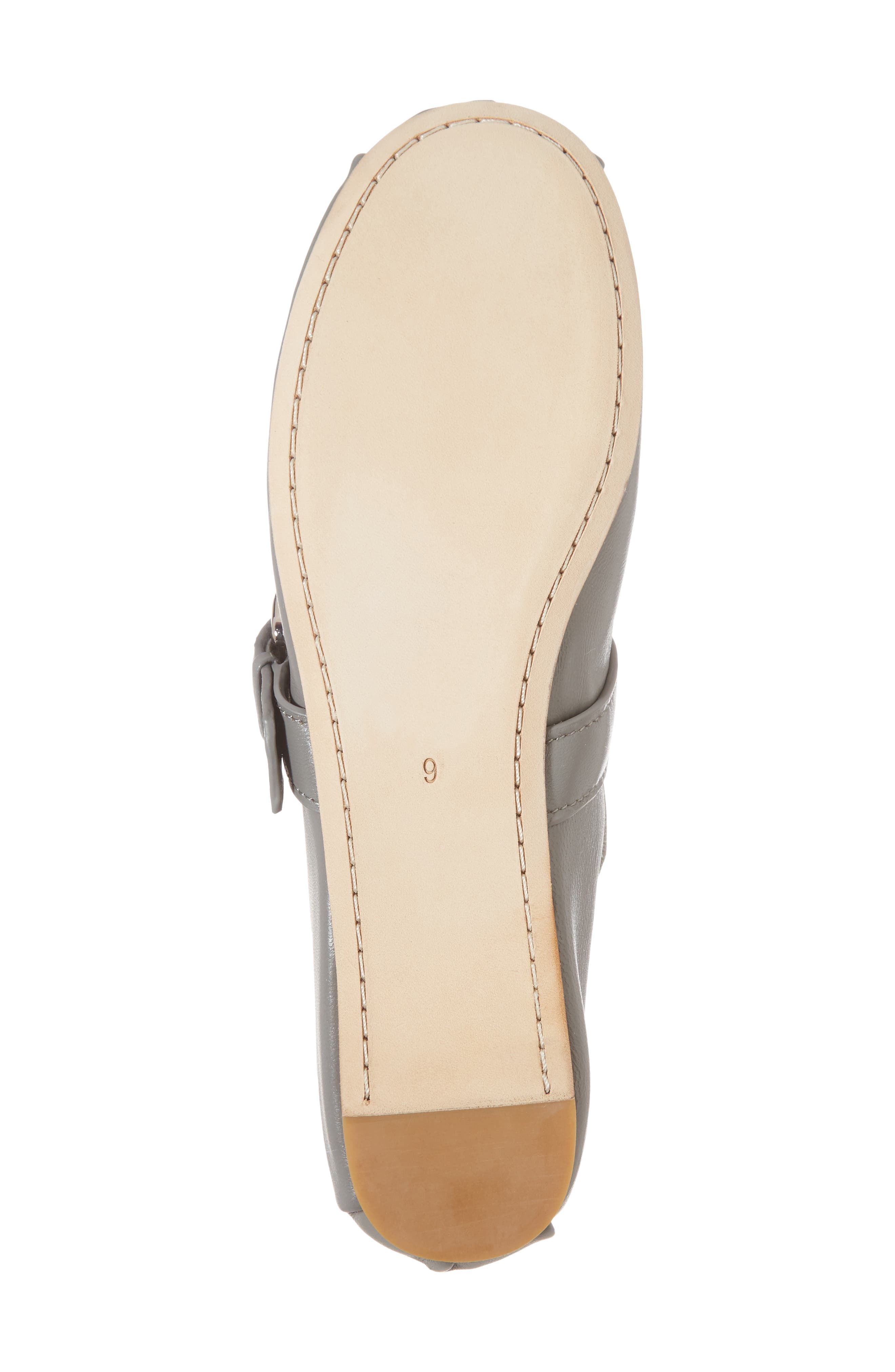 Molly Mary Jane Flat,                             Alternate thumbnail 6, color,                             Grey Leather