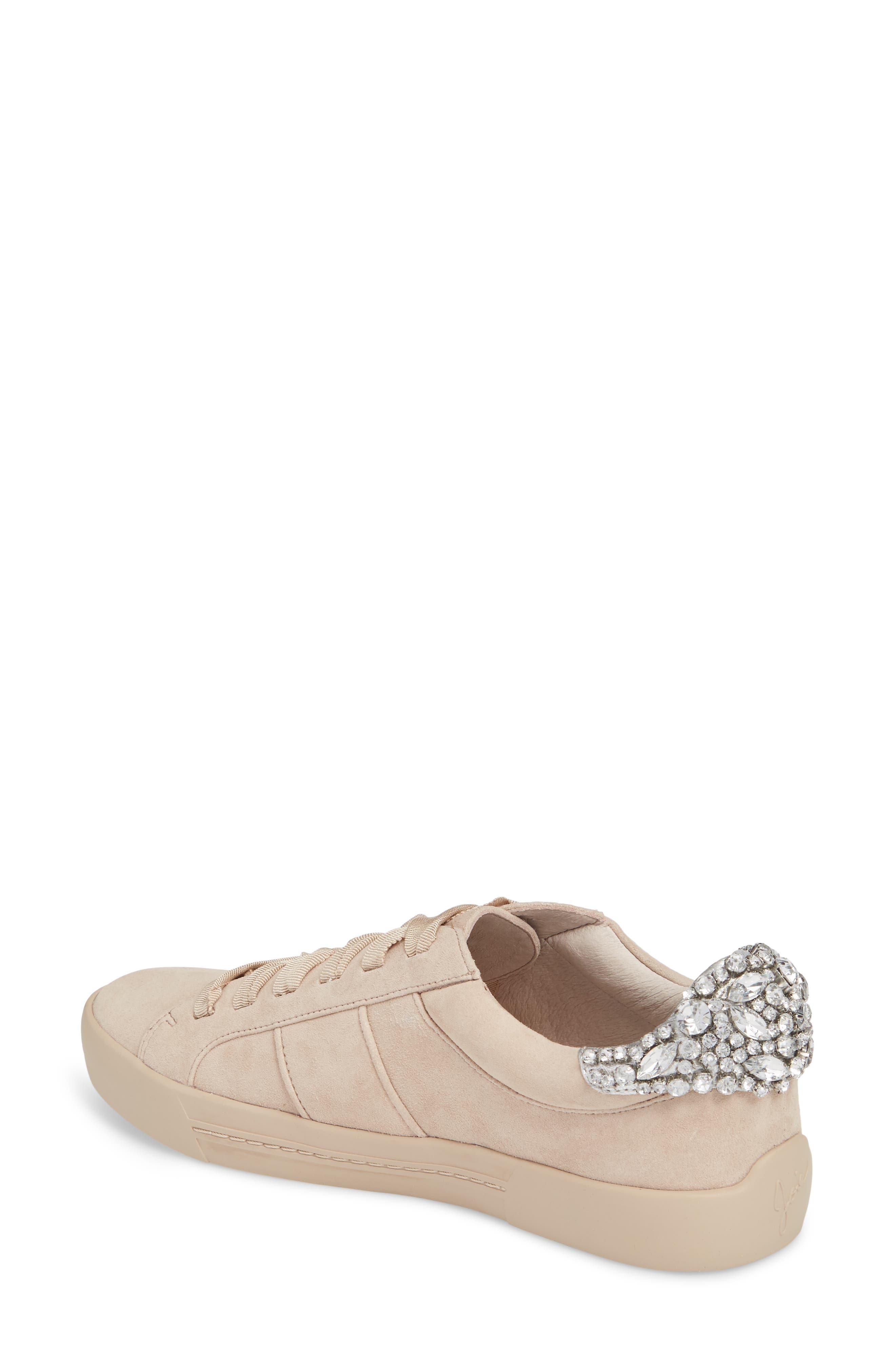 Darena Crystal Embellished Sneaker,                             Alternate thumbnail 2, color,                             Fog