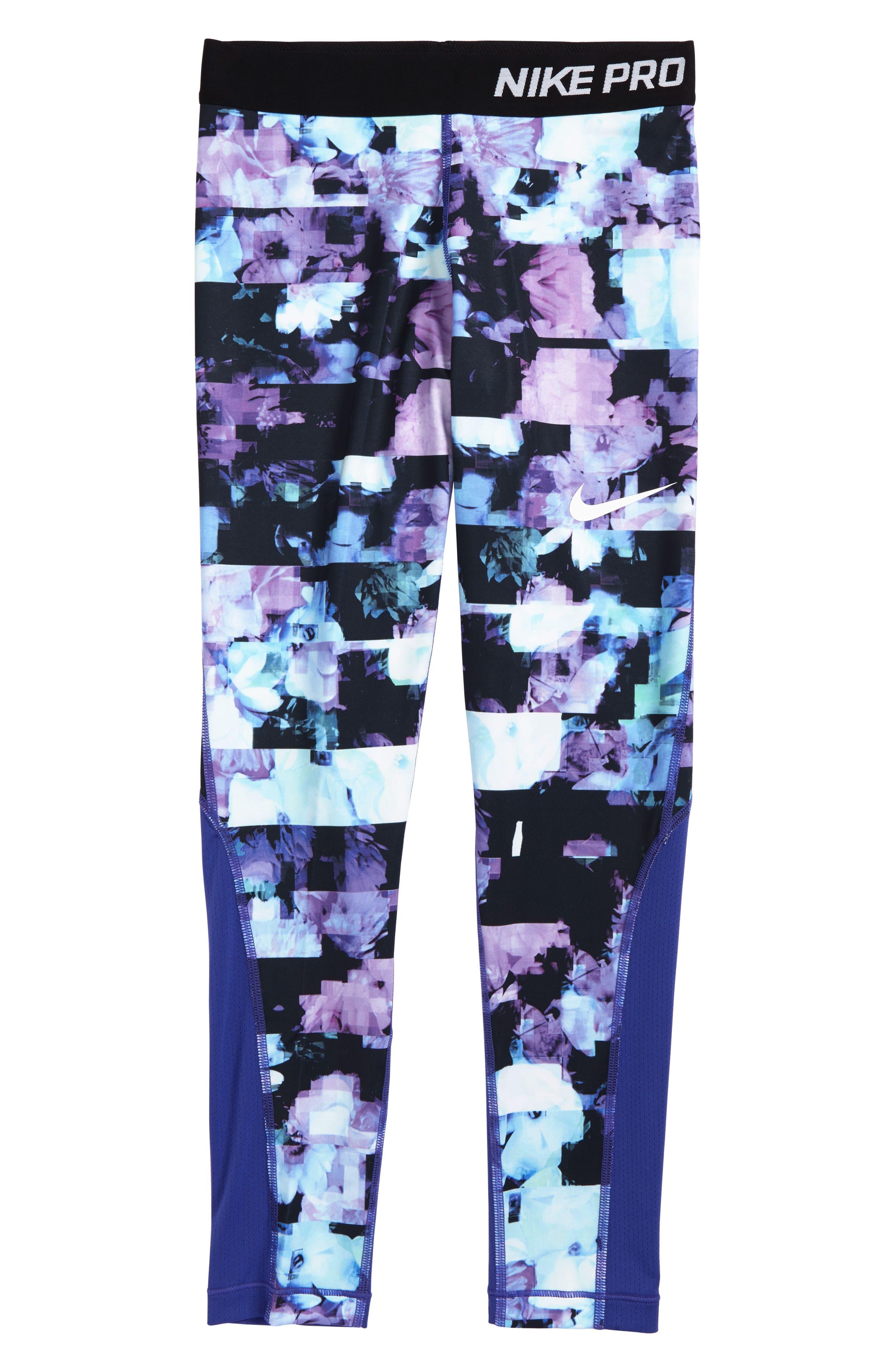 Alternate Image 1 Selected - Nike Pro Print Tights (Big Girls)