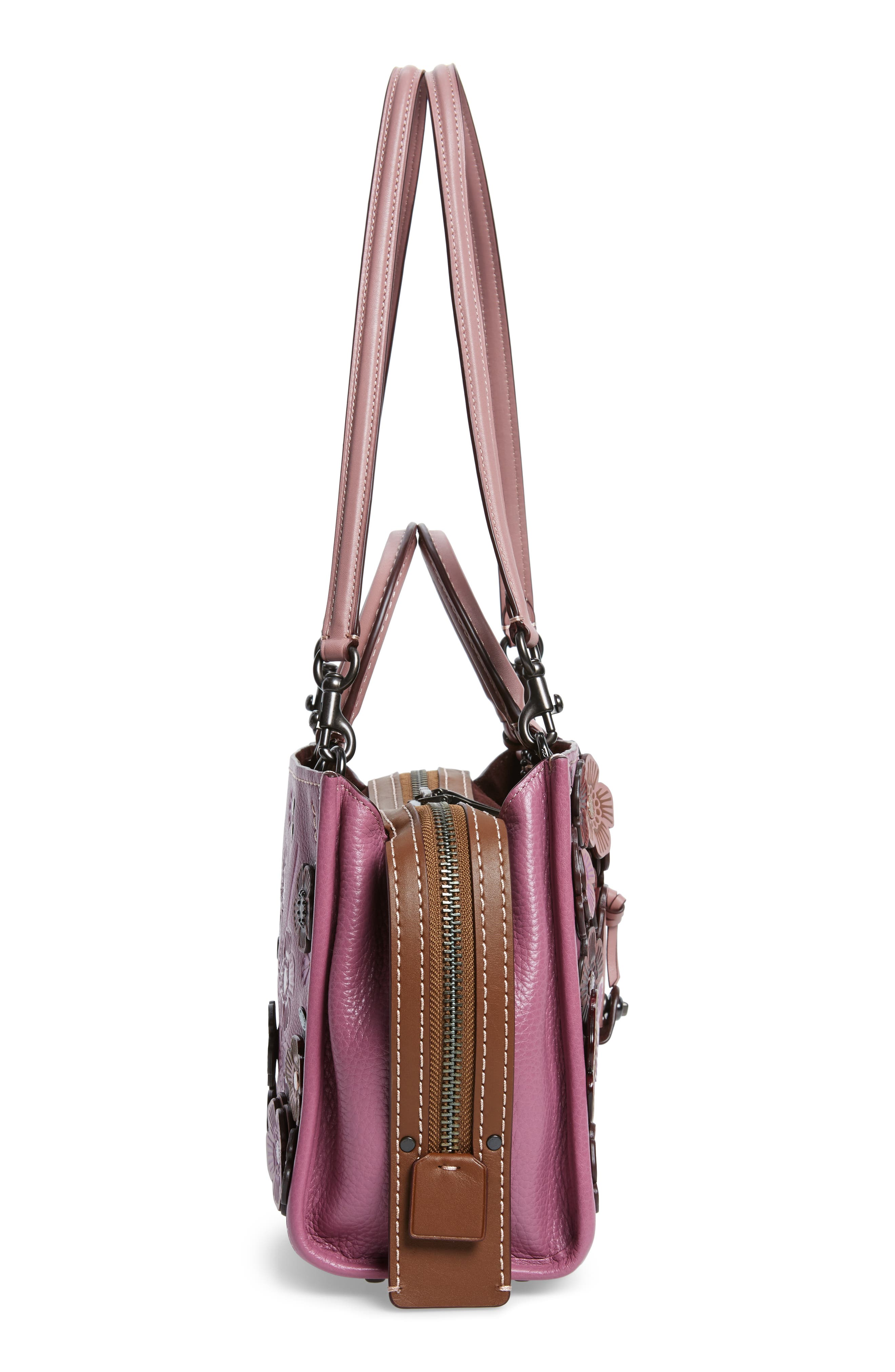 Alternate Image 5  - COACH 1941 Rogue 25 Tea Rose Appliqué Leather Crossbody Bag