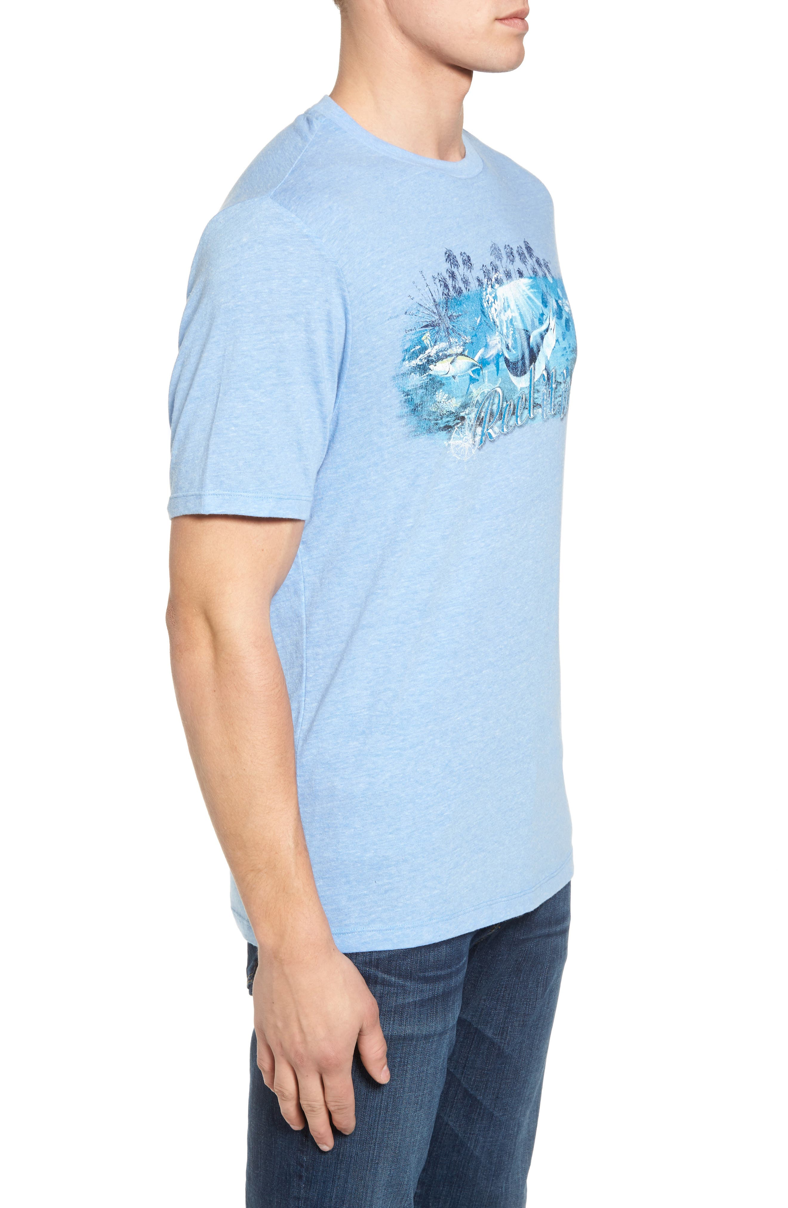 Reel Life Graphic T-Shirt,                             Alternate thumbnail 3, color,                             Dusty Blue