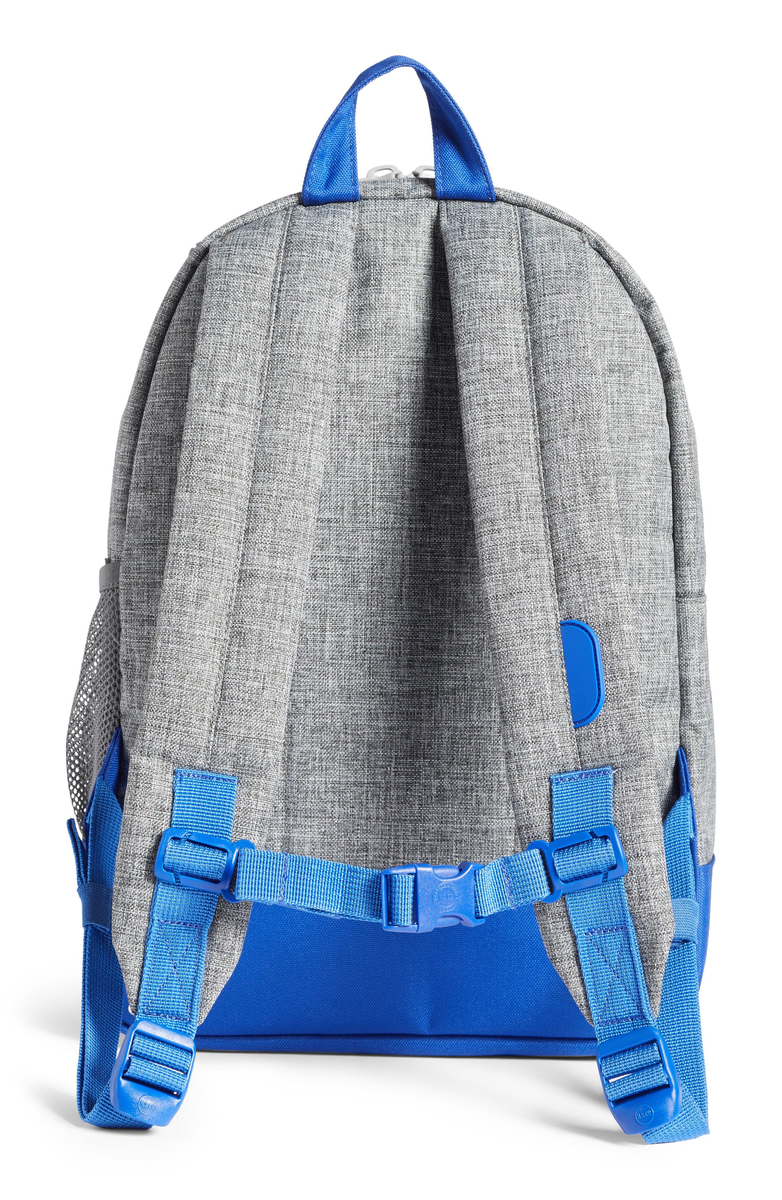 Heritage Colorblocked Backpack,                             Alternate thumbnail 2, color,                             Raven Crosshatch/ Surf Blue