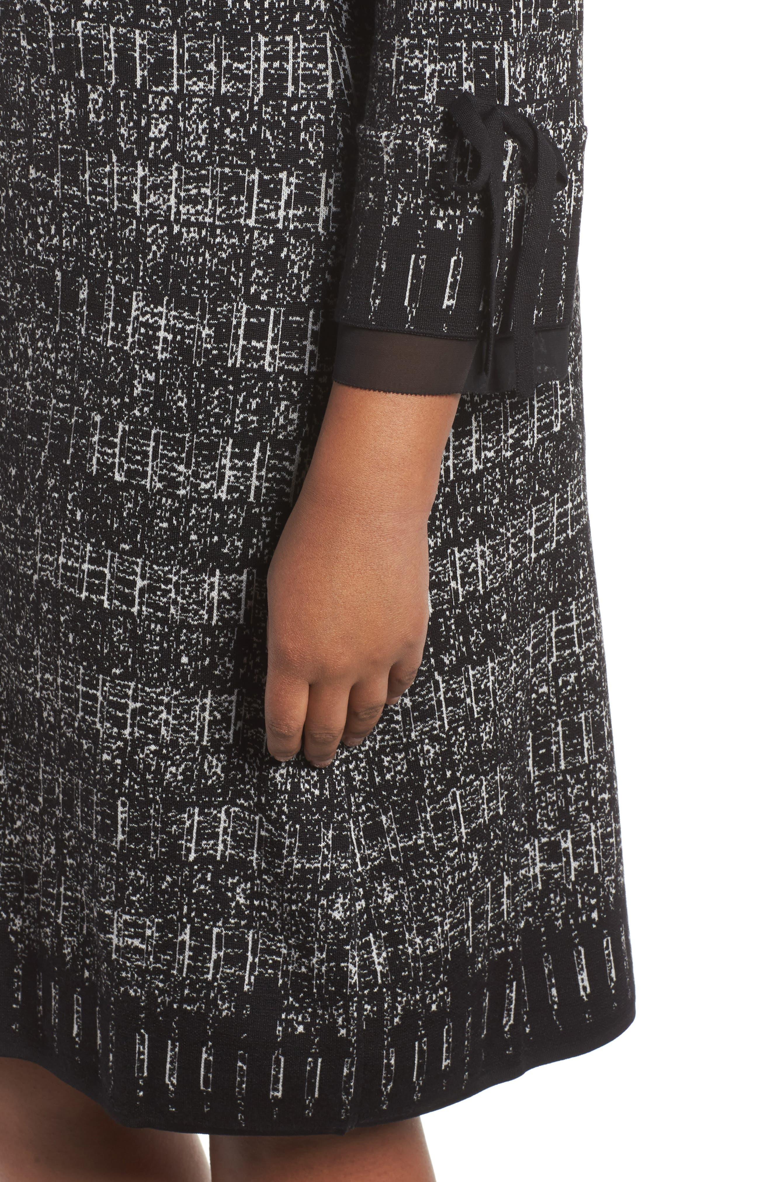 Alternate Image 4  - NIC+ZOE Ruffle Cuff Sweater Dress (Plus Size)