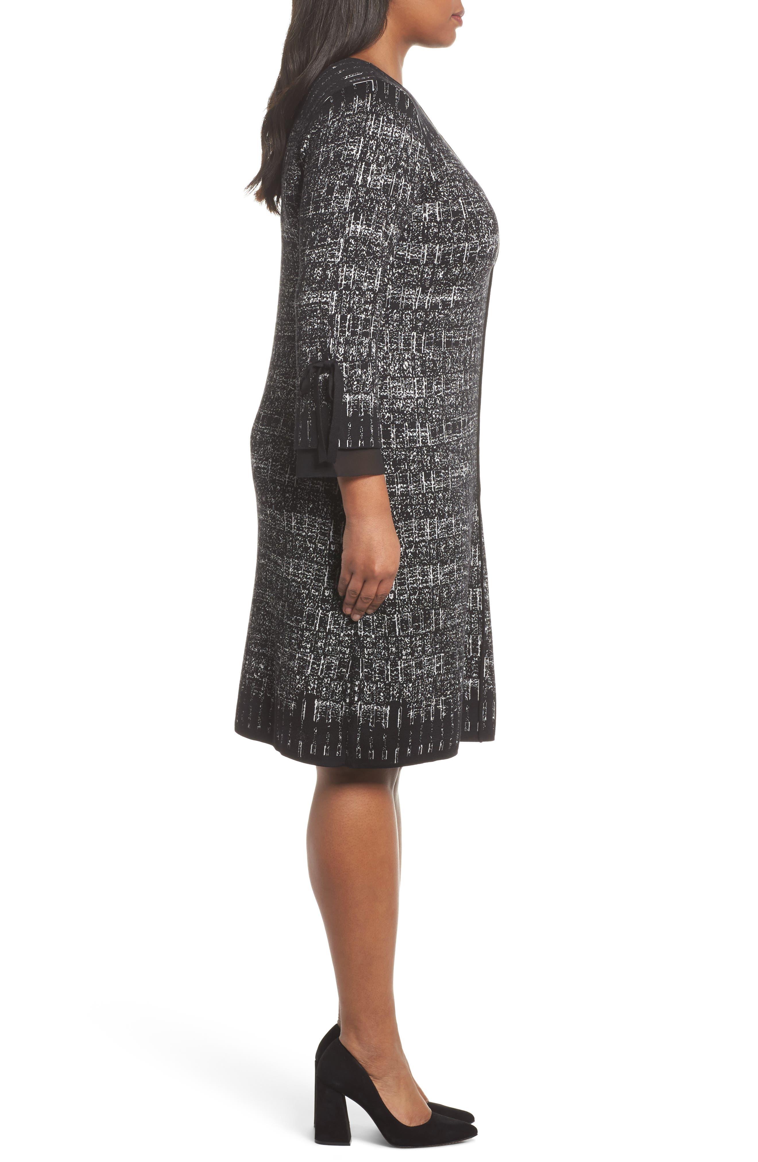 Alternate Image 3  - NIC+ZOE Ruffle Cuff Sweater Dress (Plus Size)
