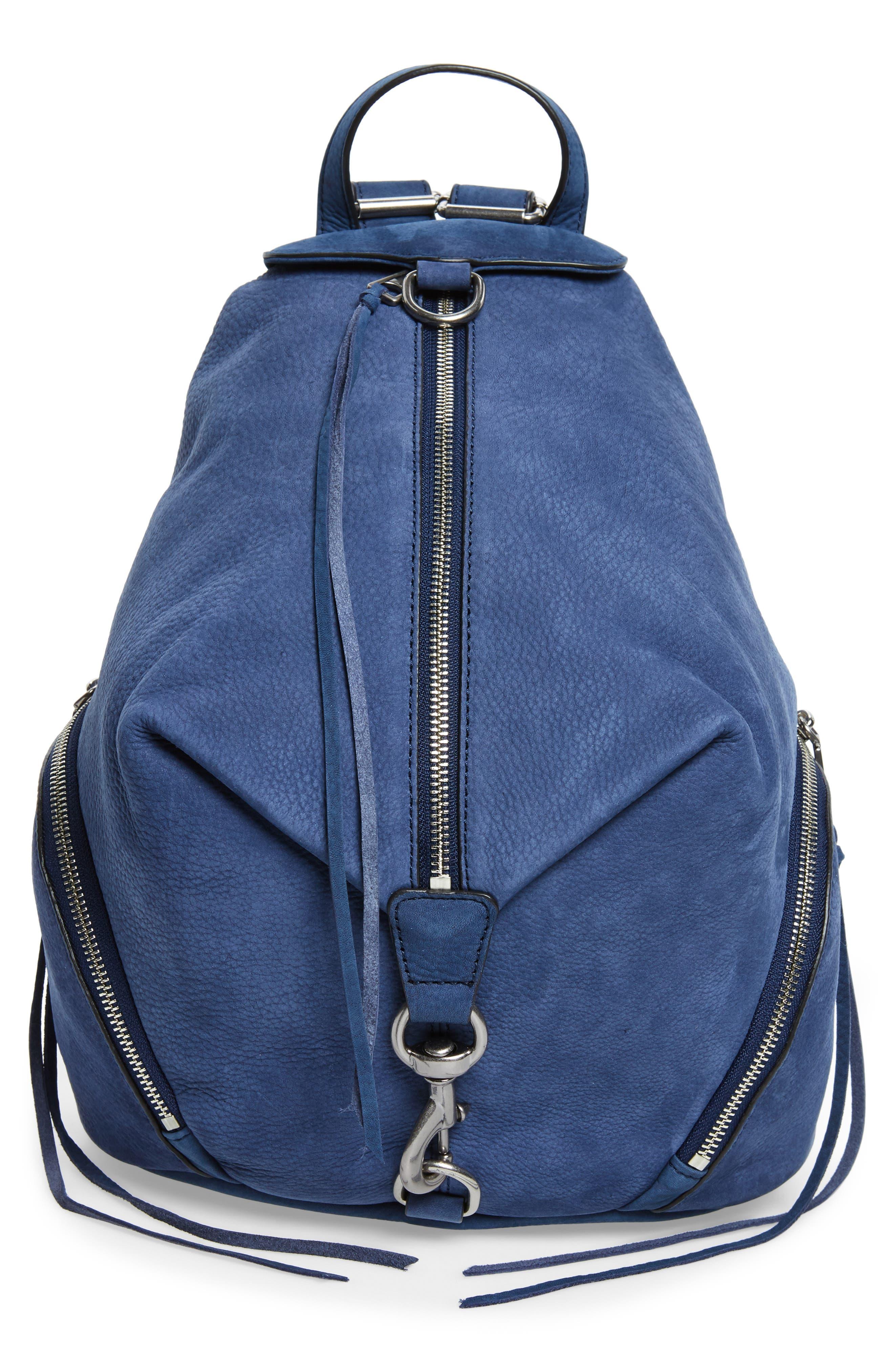 Julian Convertible Nubuck Leather Backpack,                         Main,                         color, True Navy