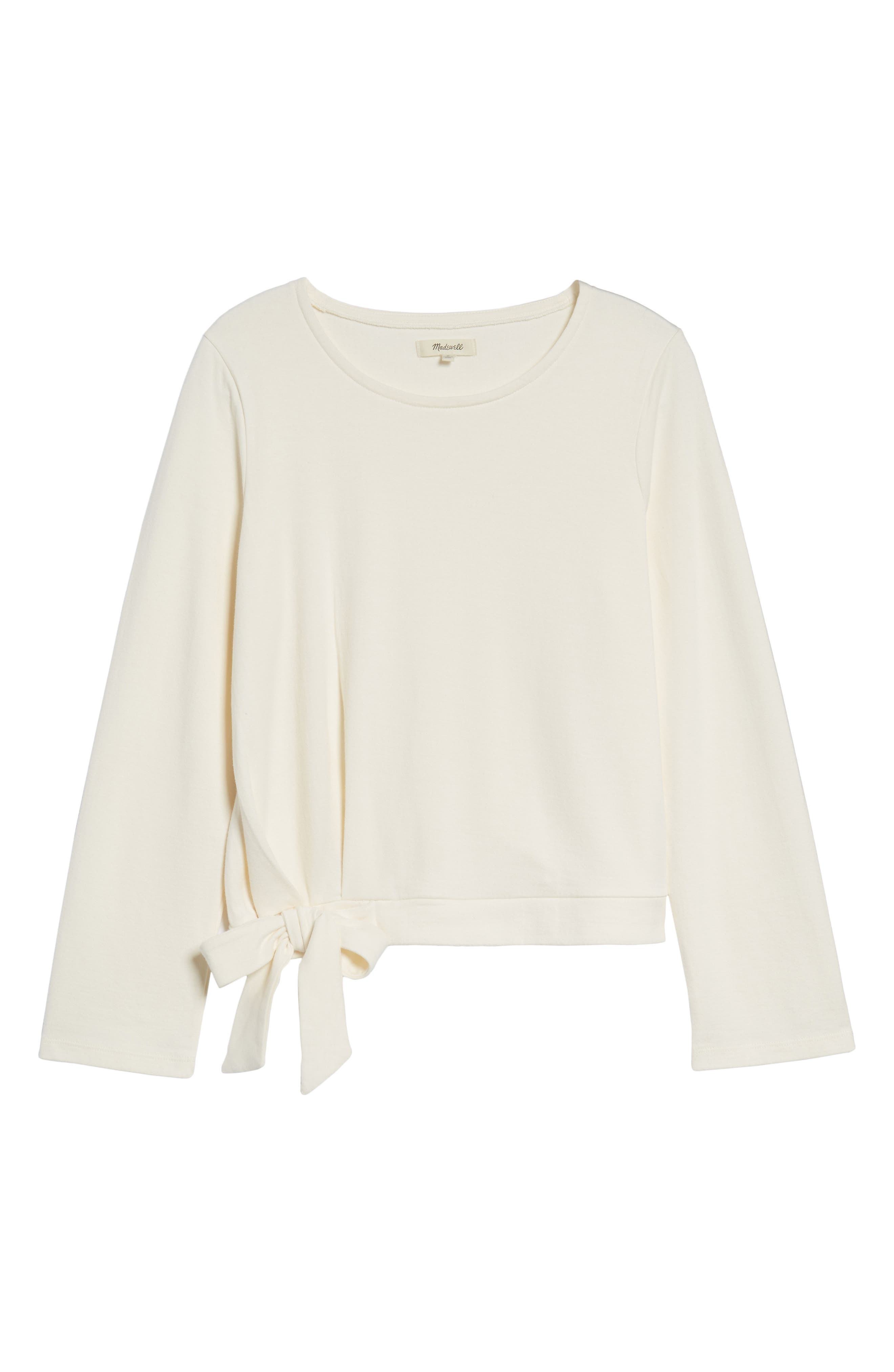 Side Tie Top,                         Main,                         color, Bright Ivory