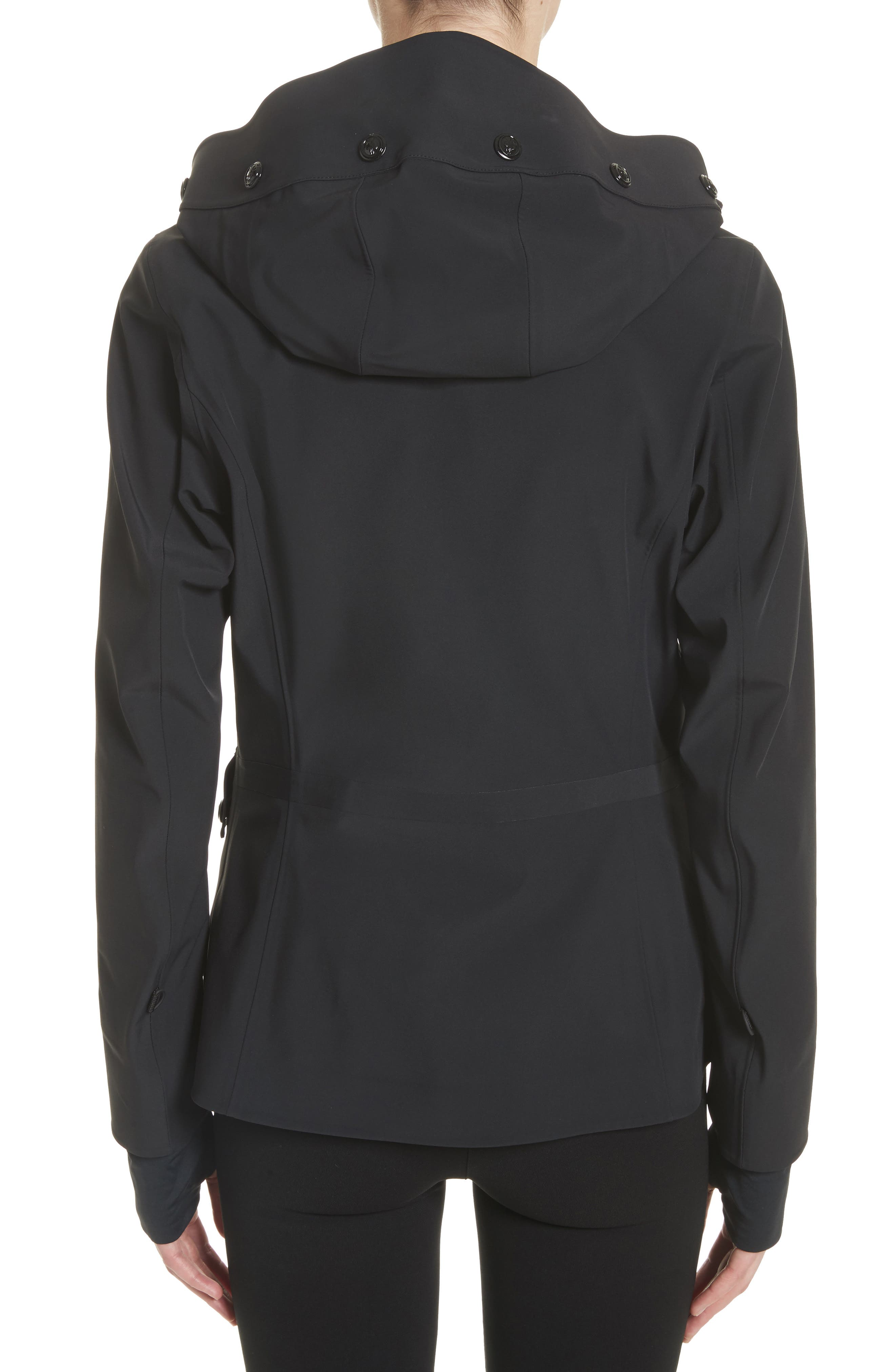 Lozere Waterproof Hooded Jacket,                             Alternate thumbnail 2, color,                             Black