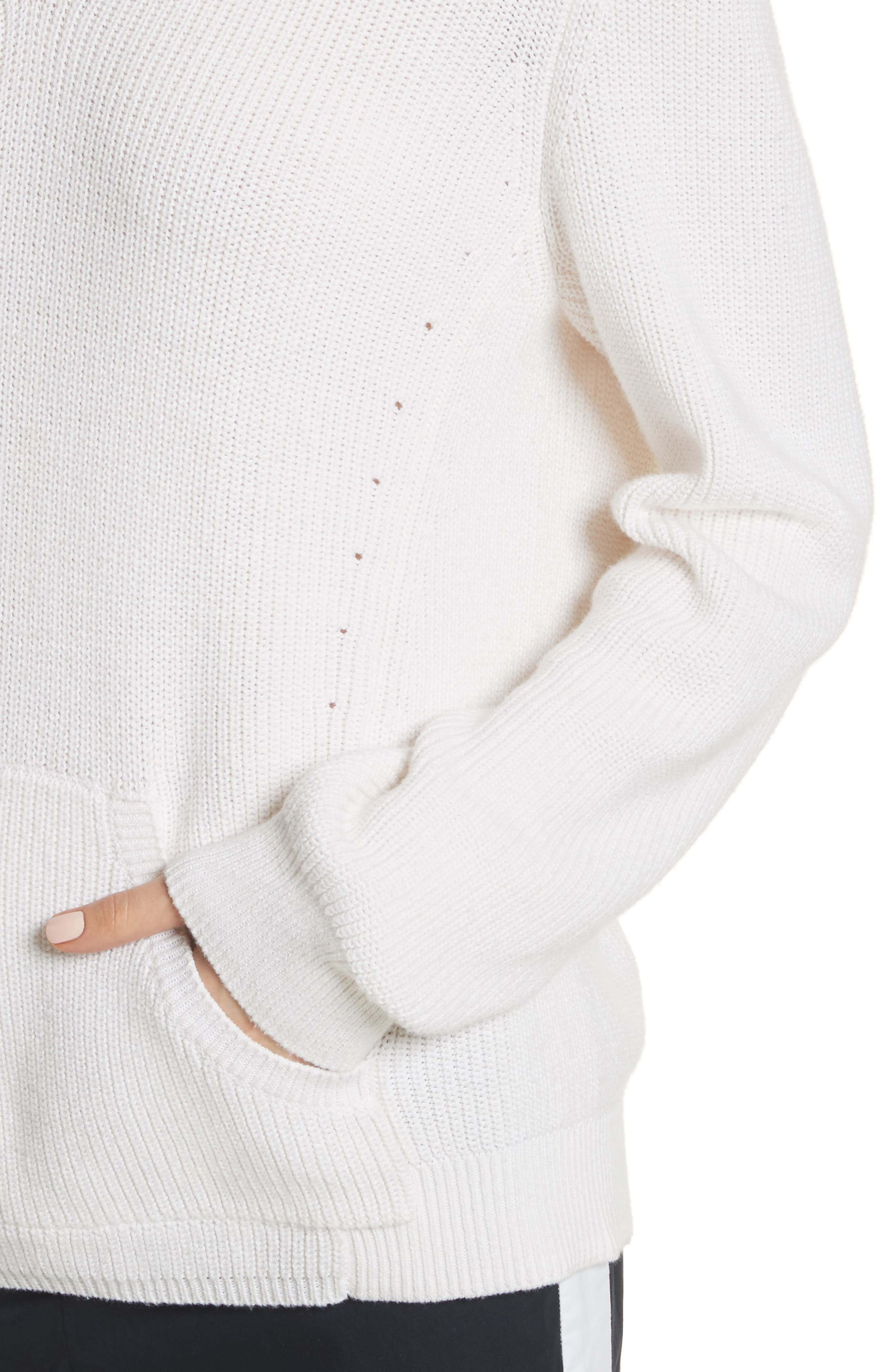 Octavia Hooded Sweater,                             Alternate thumbnail 4, color,                             Ivory