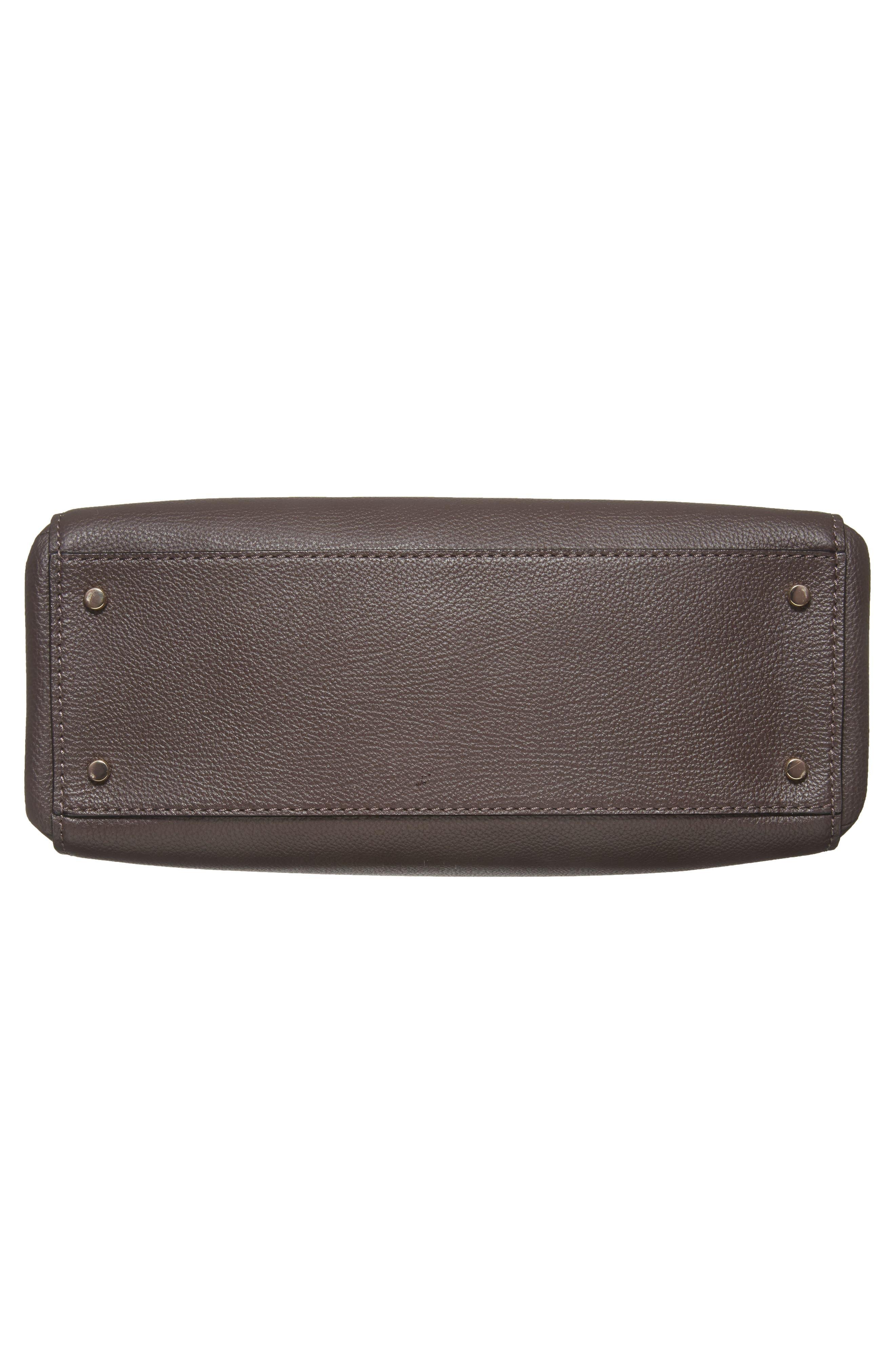 kingston drive - bartlett leather satchel,                             Alternate thumbnail 6, color,                             Morning Black