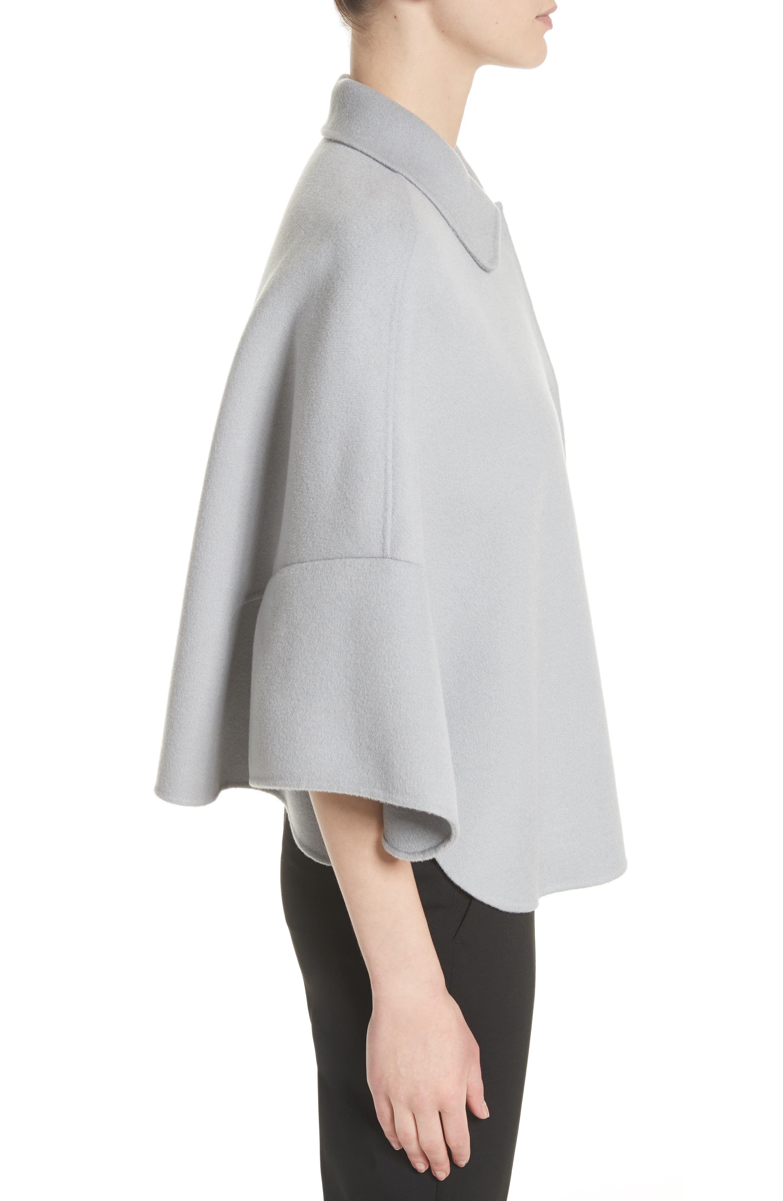 Wool & Cashmere Swing Caban Coat,                             Alternate thumbnail 3, color,                             Crystal