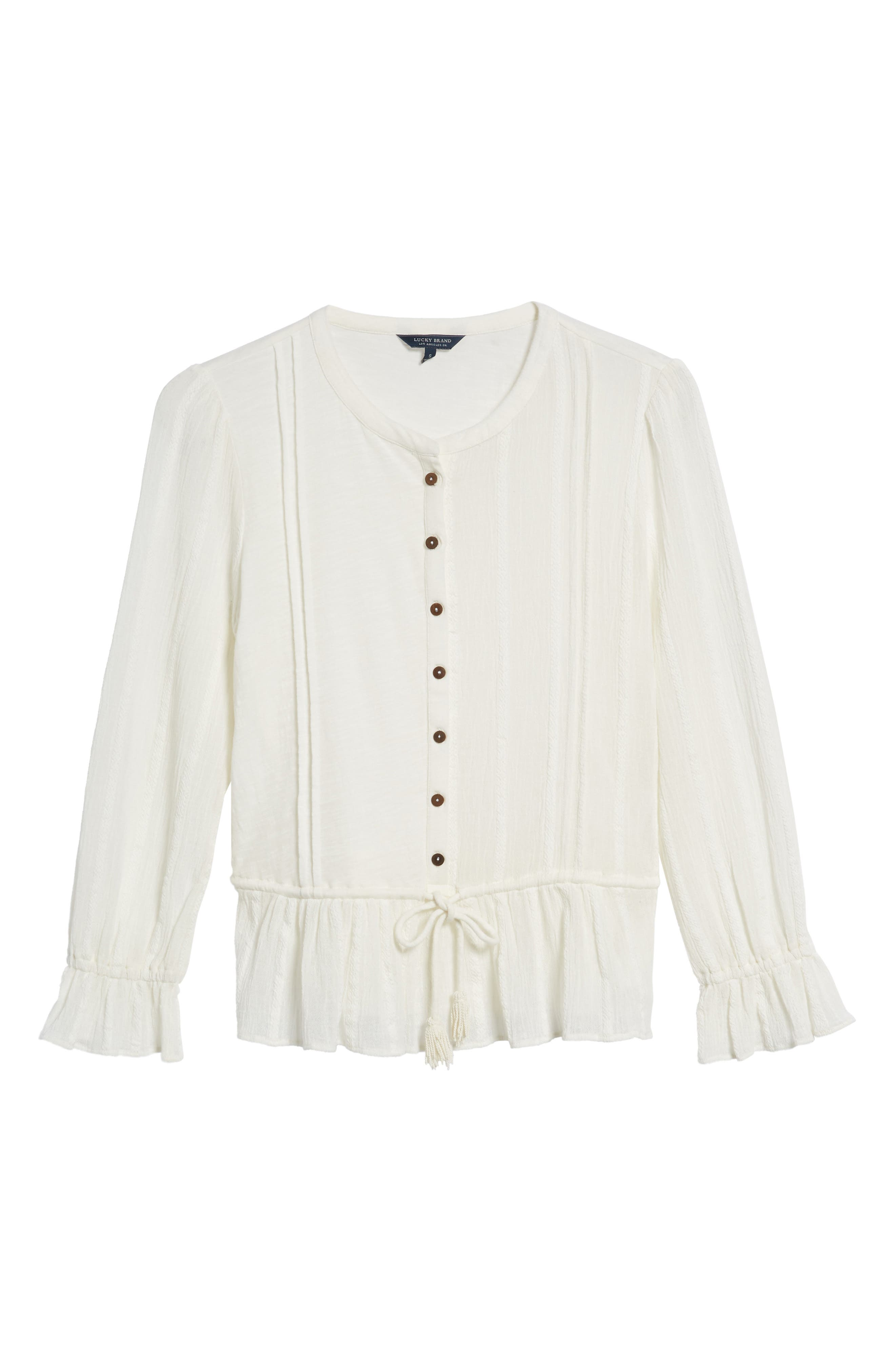 Alternate Image 6  - Lucky Brand Drawstring Peplum Top