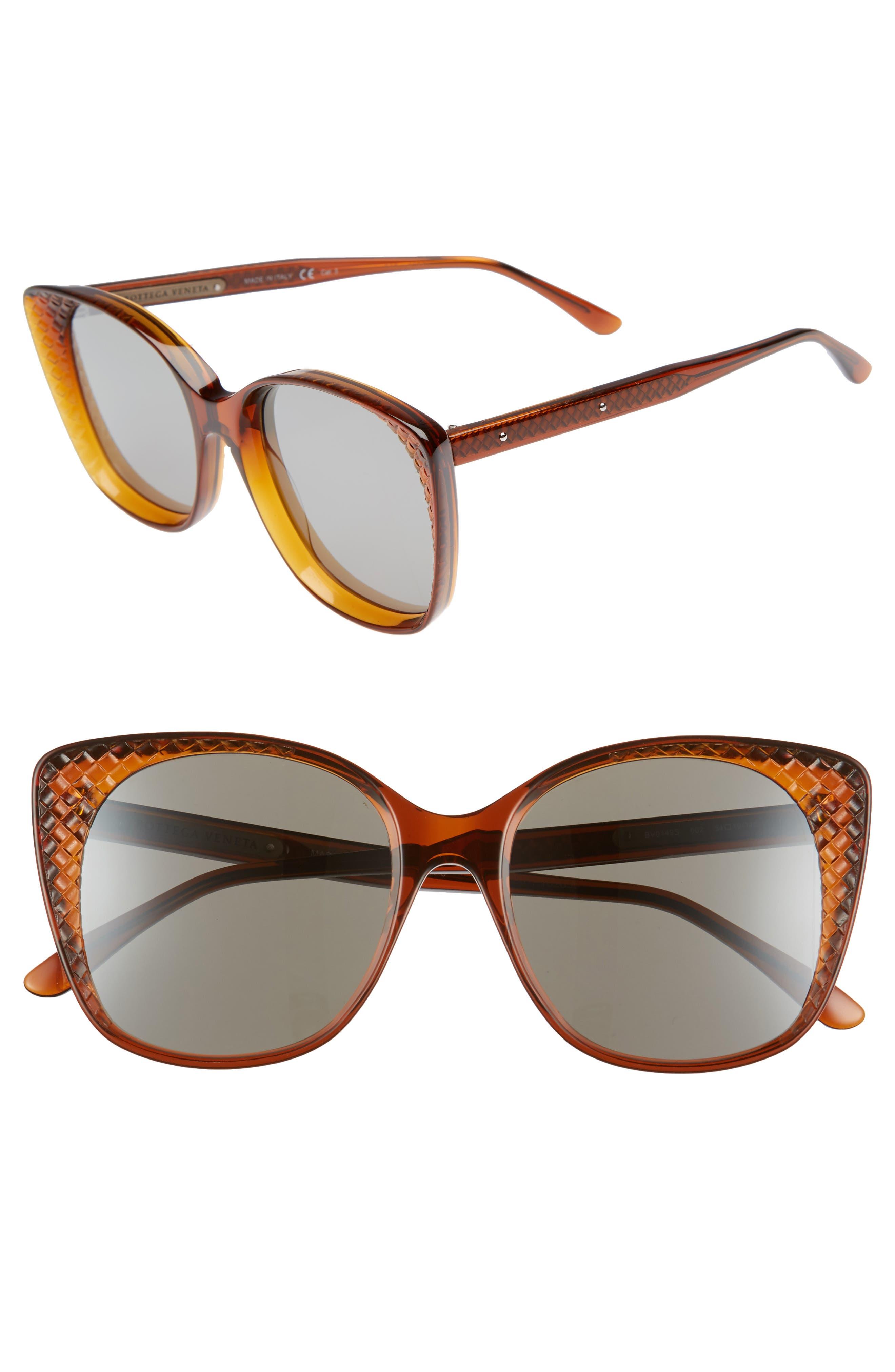 54mm Sunglasses,                             Main thumbnail 1, color,                             Chocolate Brown