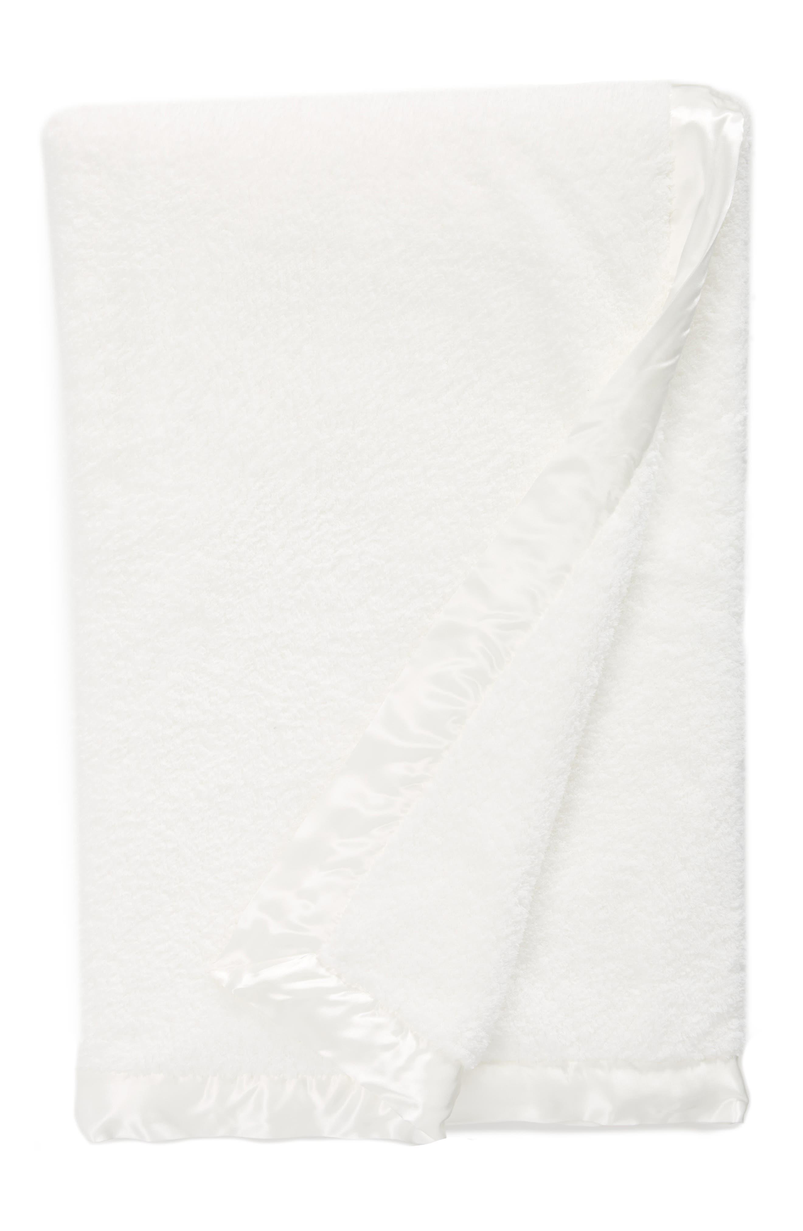Chenille Throw,                             Main thumbnail 1, color,                             White