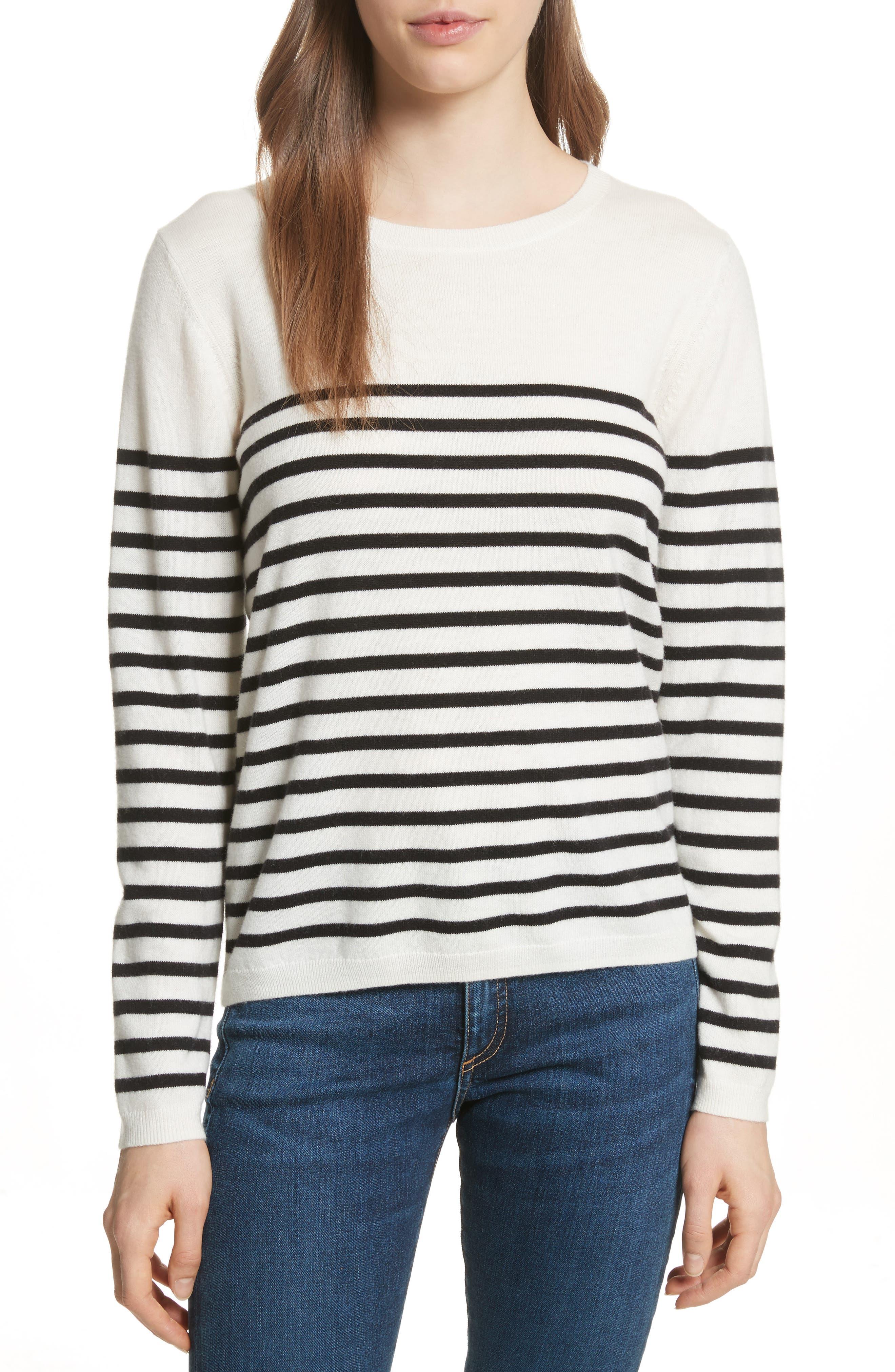 heart patch sweater,                         Main,                         color, Black/ Cream Multi