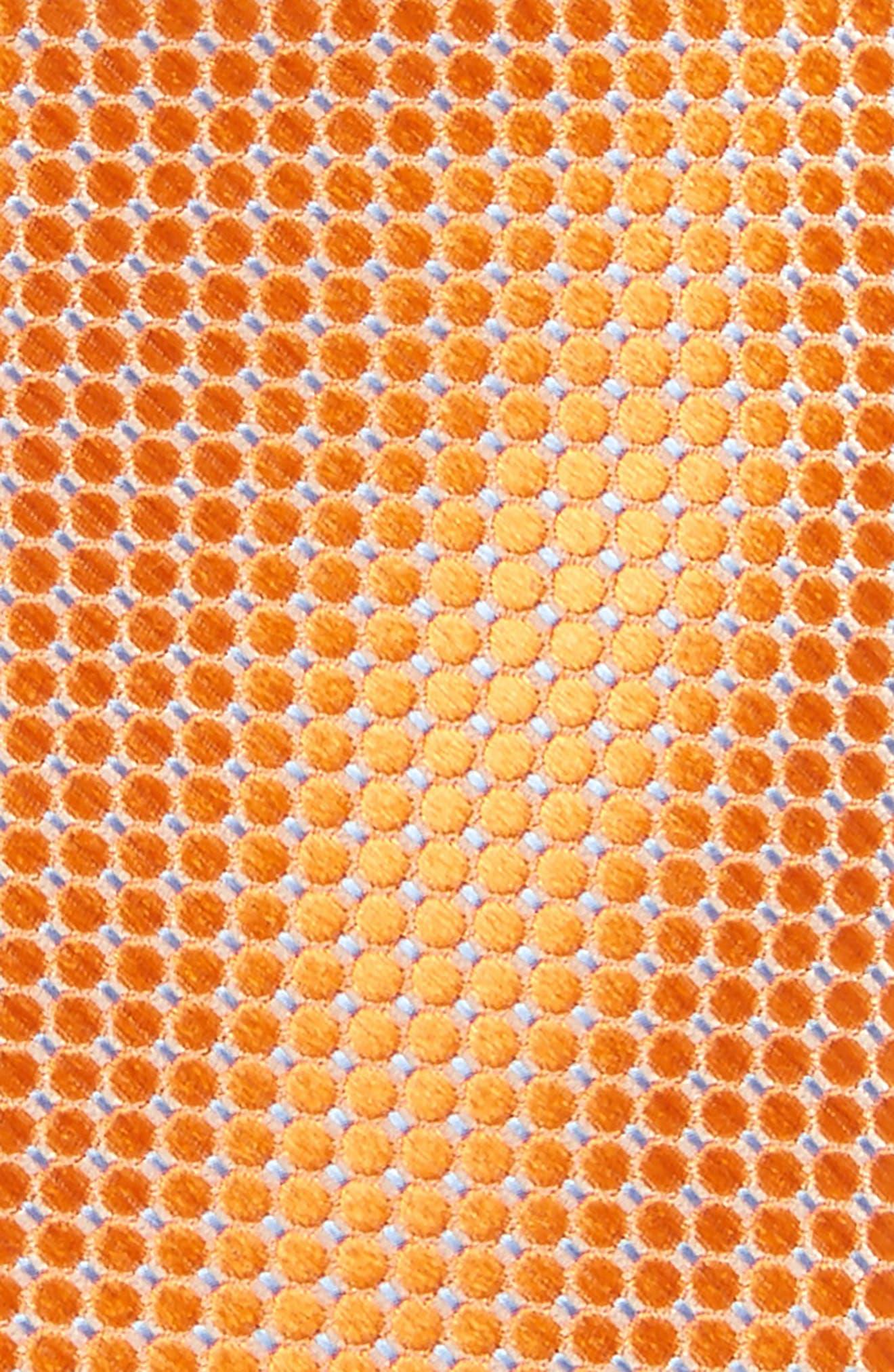 Neat Dot Silk Tie,                             Alternate thumbnail 2, color,                             Orange