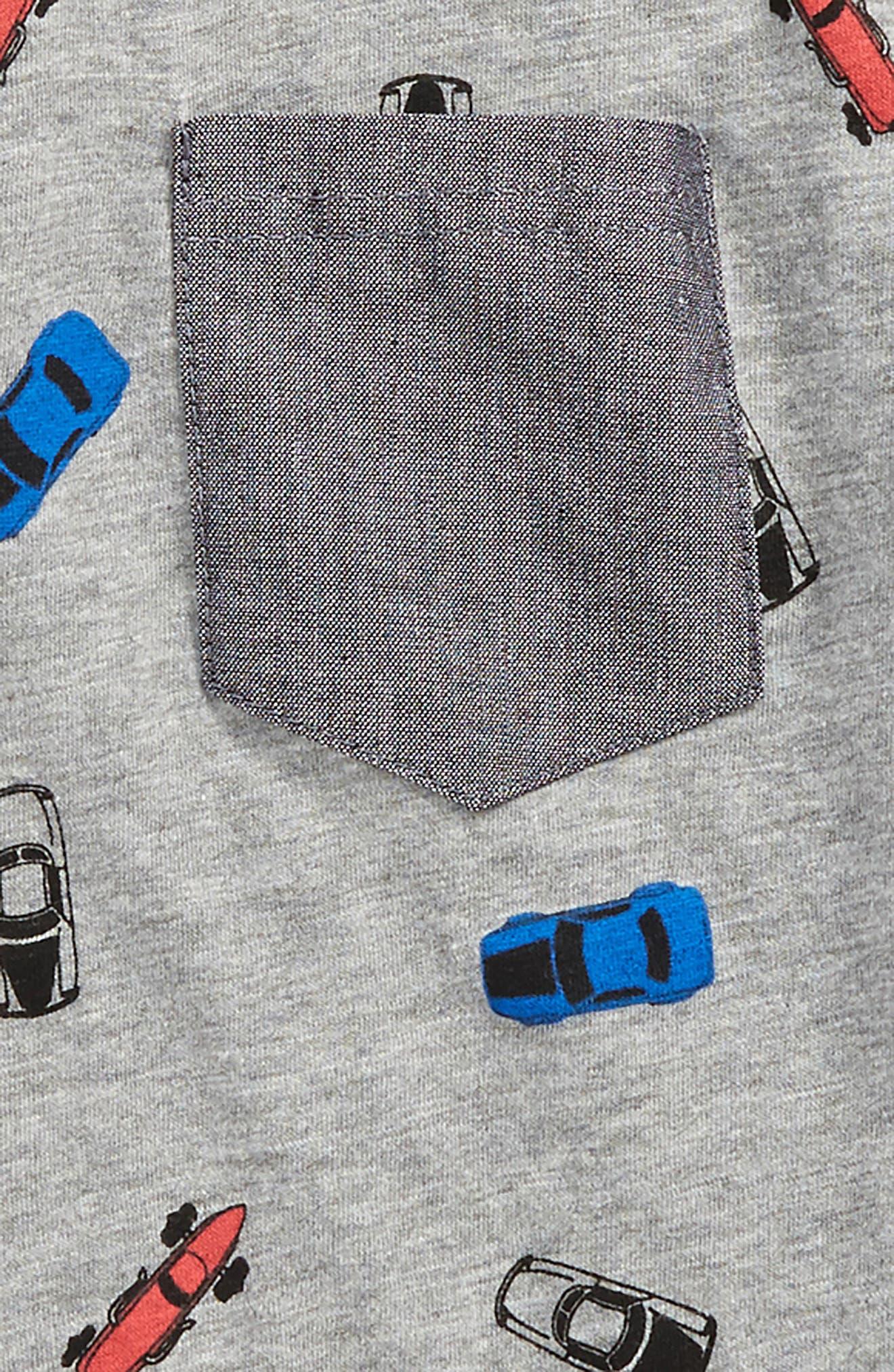 Trav Pocket T-Shirt,                             Alternate thumbnail 2, color,                             Grey Cars