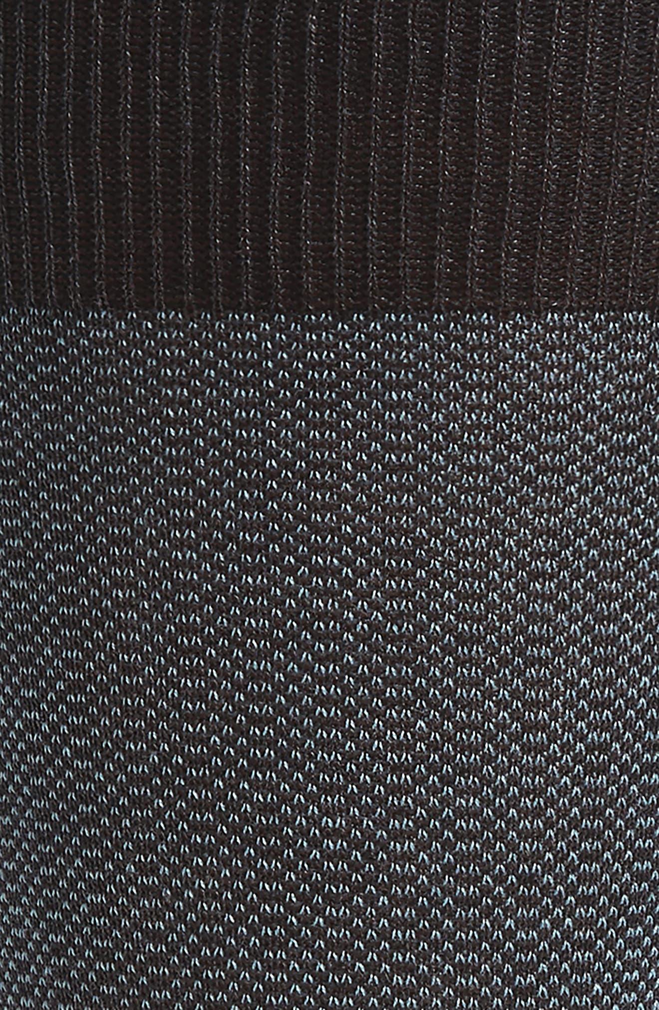 Birdseye Stripe Socks,                             Alternate thumbnail 2, color,                             Dark Grey