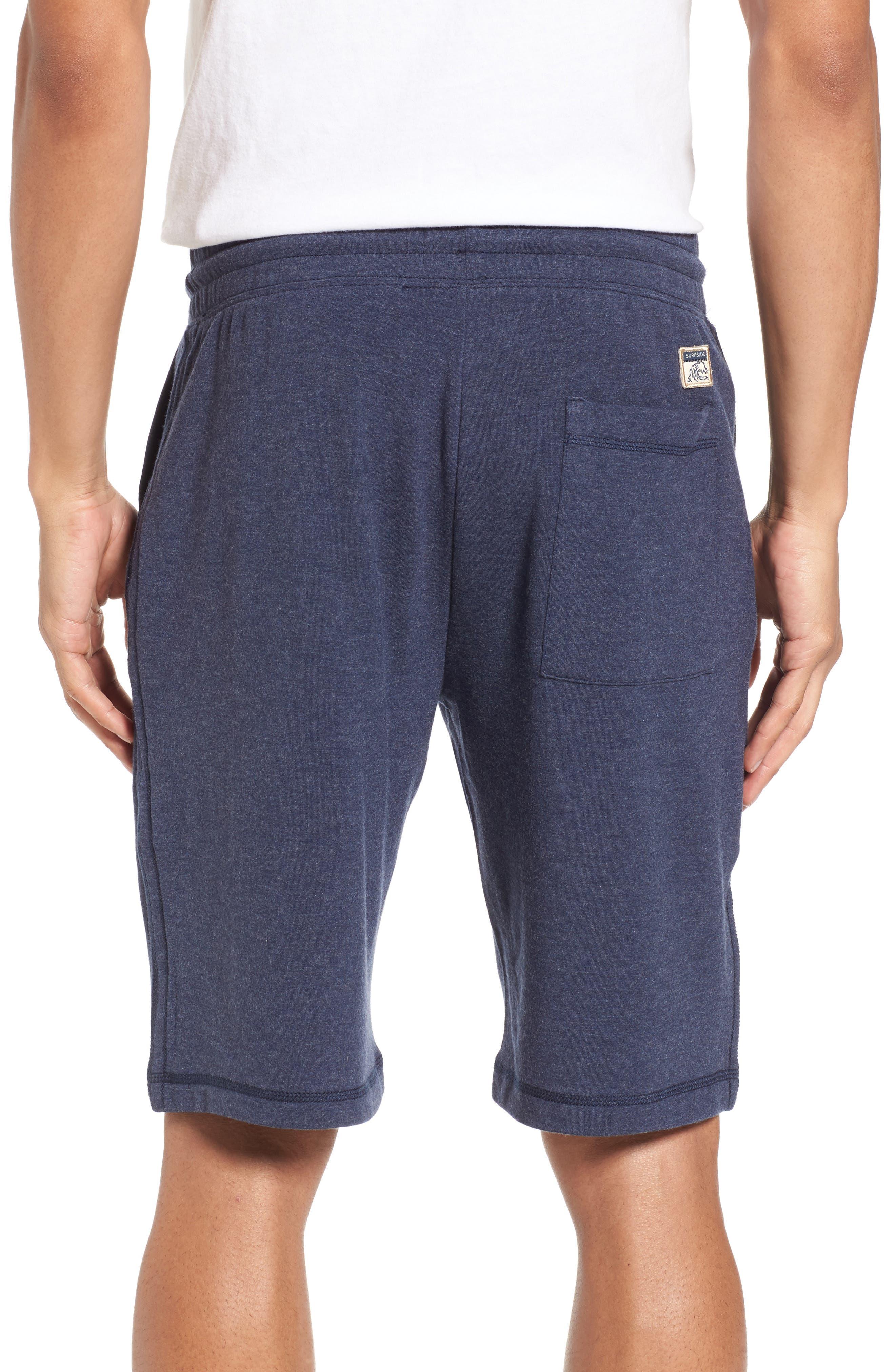 Brushback Fleece Shorts,                             Alternate thumbnail 2, color,                             Navy Heather