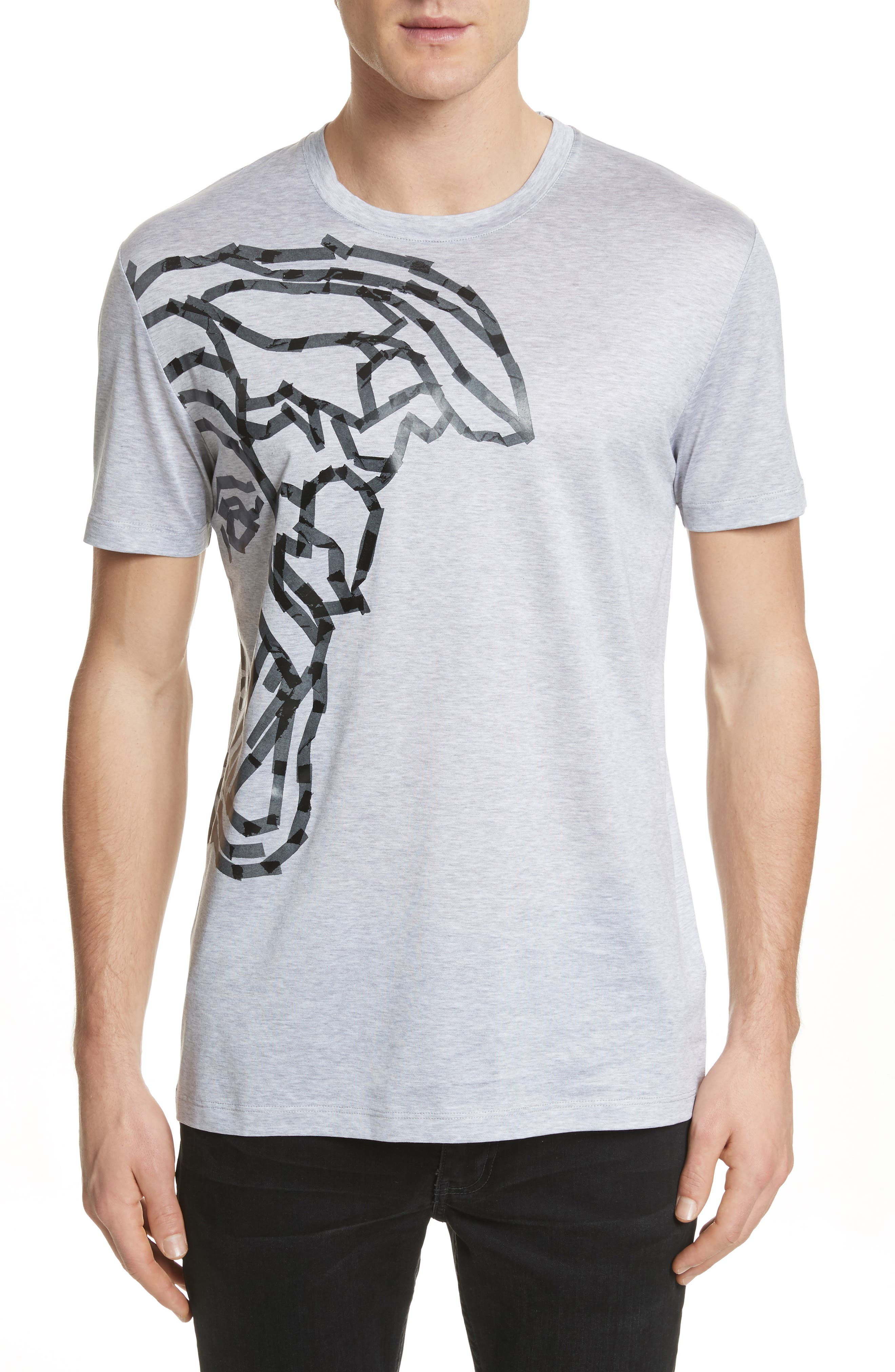 Medusa Tape Graphic T-Shirt,                             Main thumbnail 1, color,                             Medium Grey